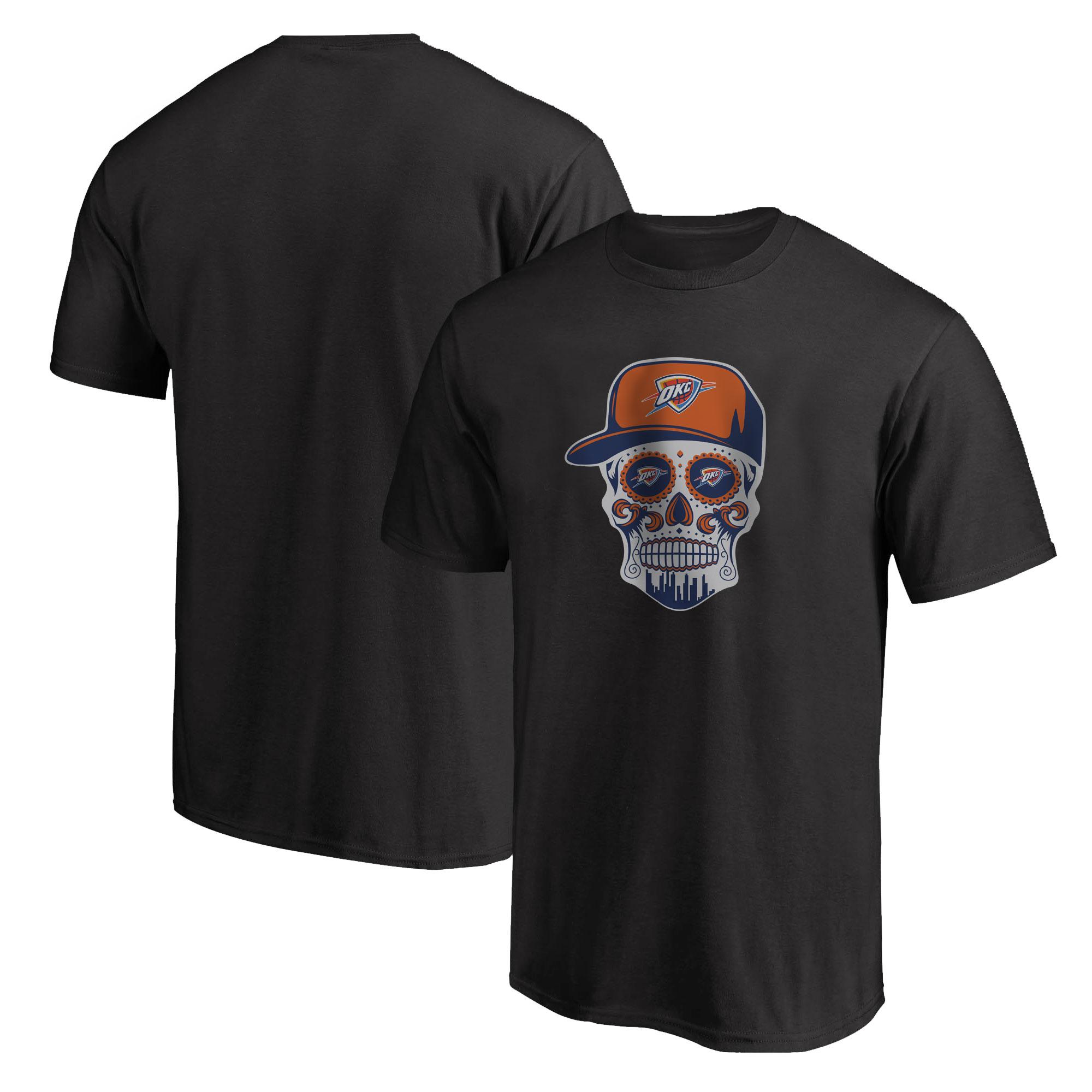 Thunder Skull Tshirt (TSH-BLC-NP-459-NBA-OKC-SKULL)