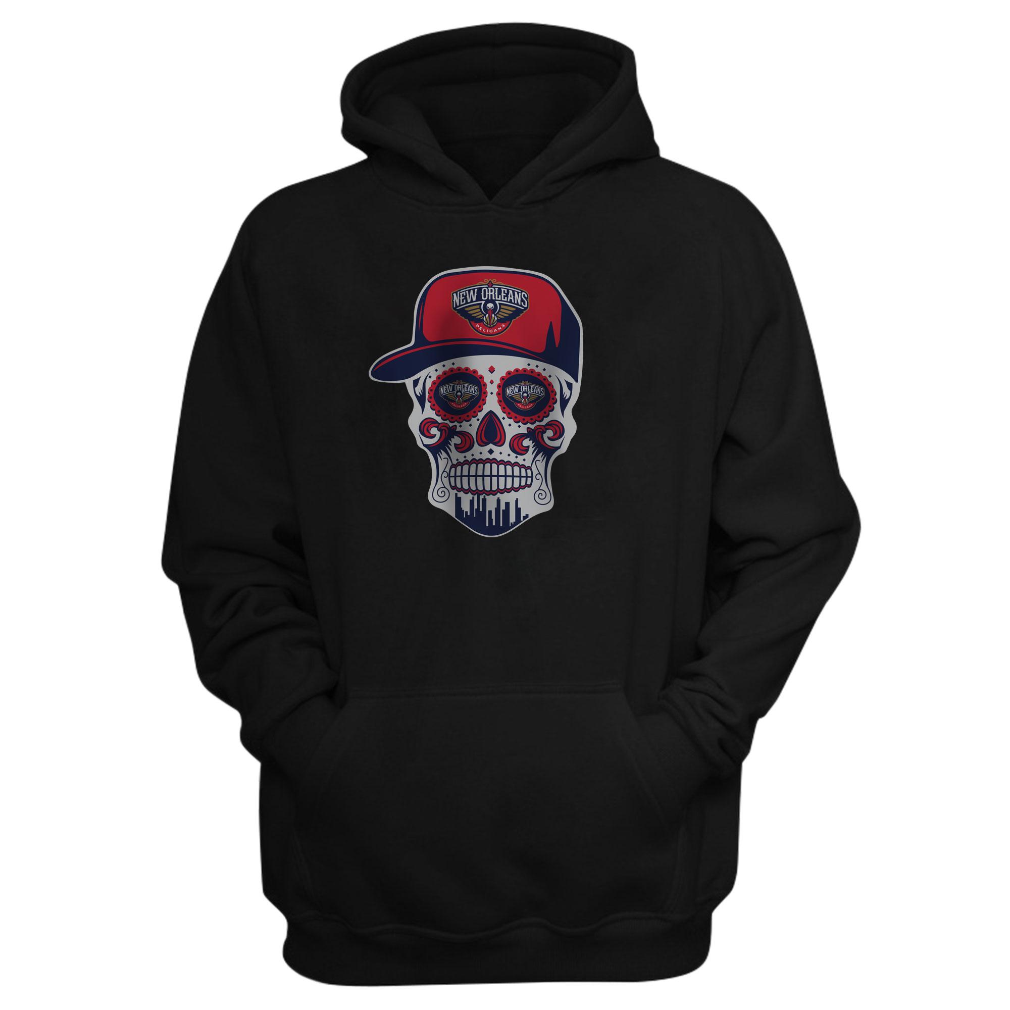 Pelicans Skull Hoodie (HD-BLC-NP-460-NBA-NOLA-SKULL)