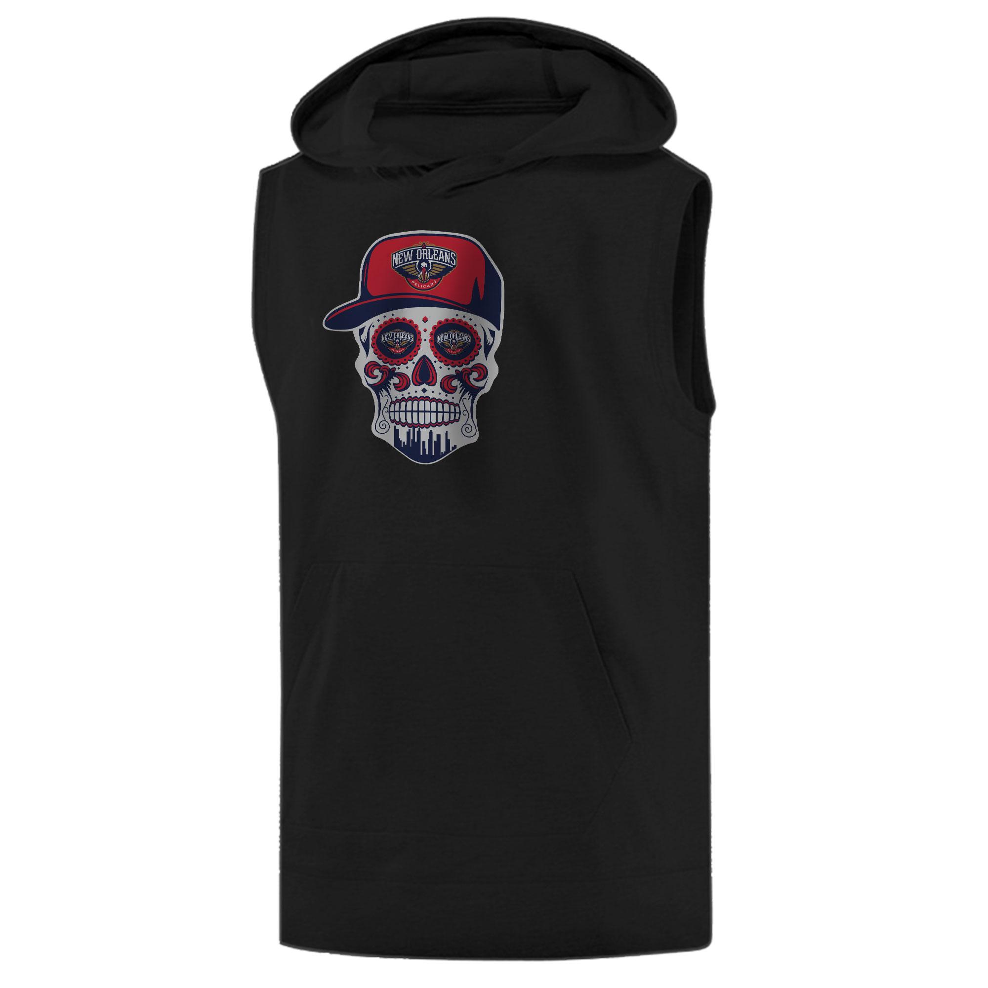 Pelicans Skull Sleeveless (KLS-BLC-NP-460-NBA-NOLA-SKULL)