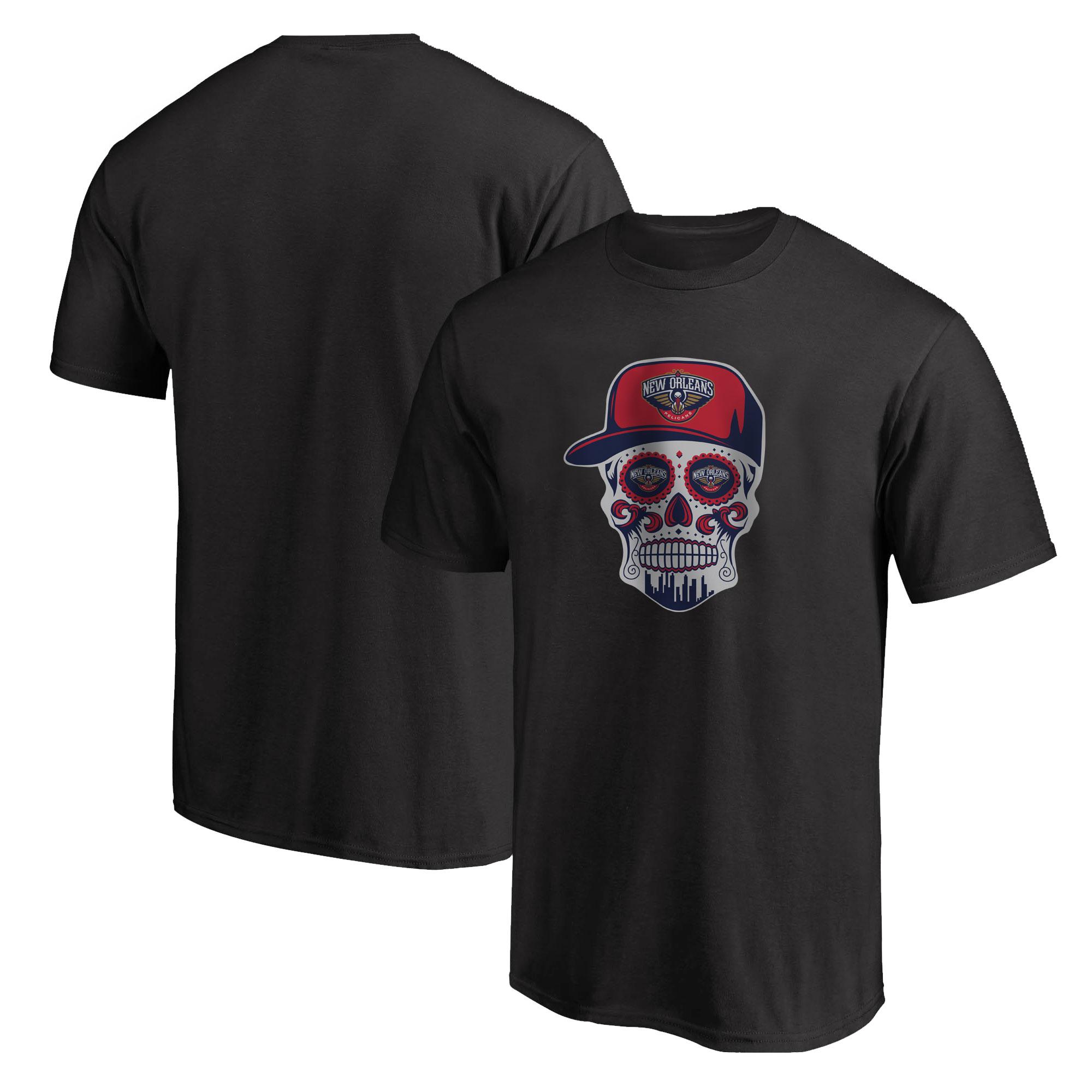 Pelicans Skull  Tshirt (TSH-BLC-NP-460-NBA-NOLA-SKULL)