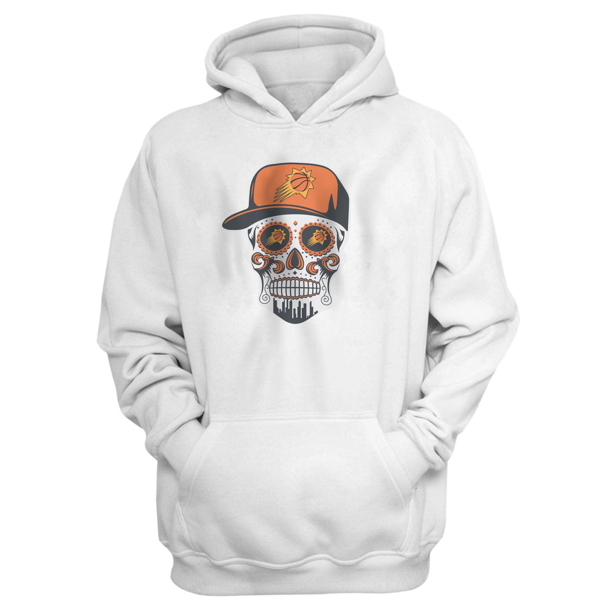 Phoenix Skull Hoodie (HD-WHT-NP-461-NBA-PHO-PHO-SKULL)