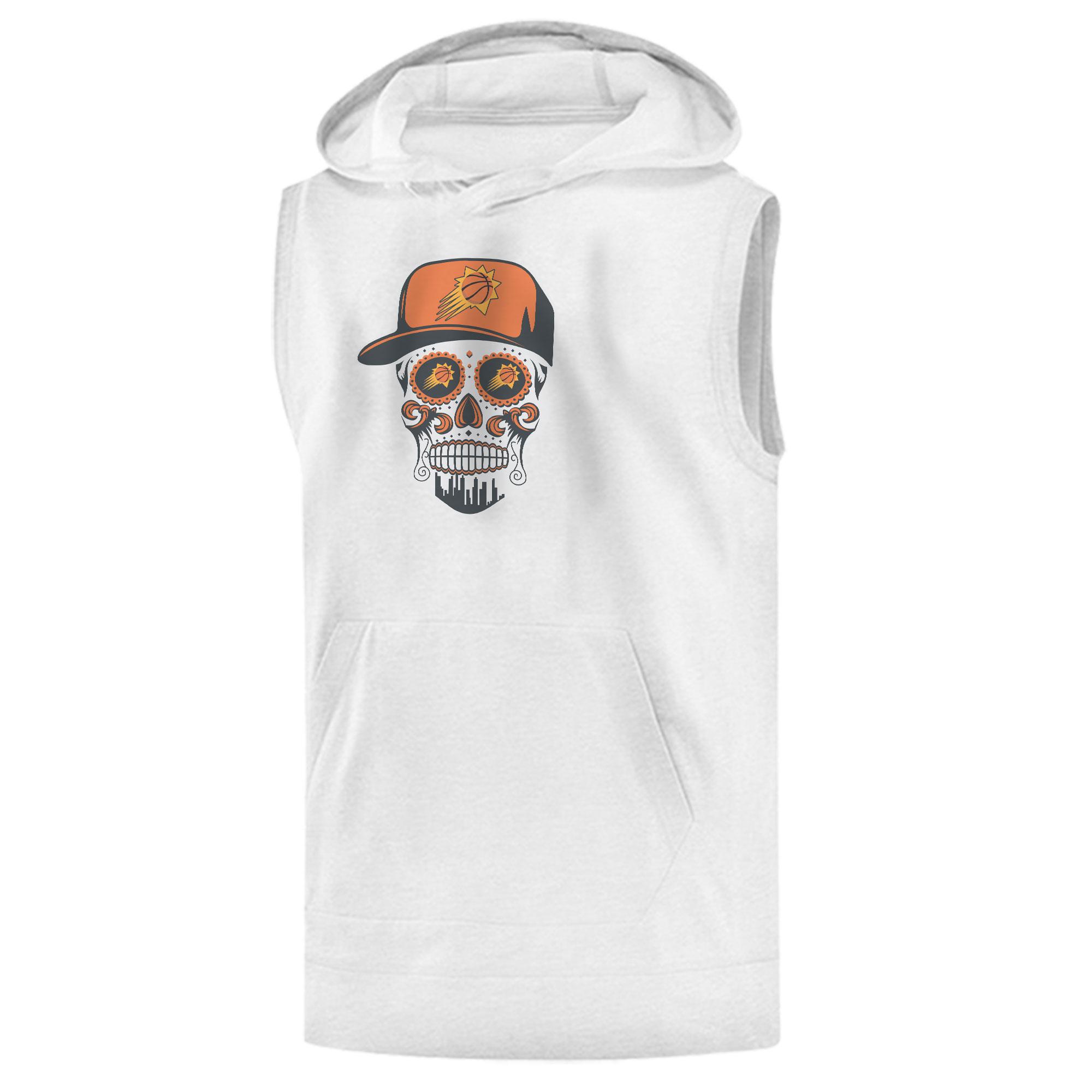 Phoenix Skull Sleeveless (KLS-WHT-NP-461-NBA-PHO-SKULL)