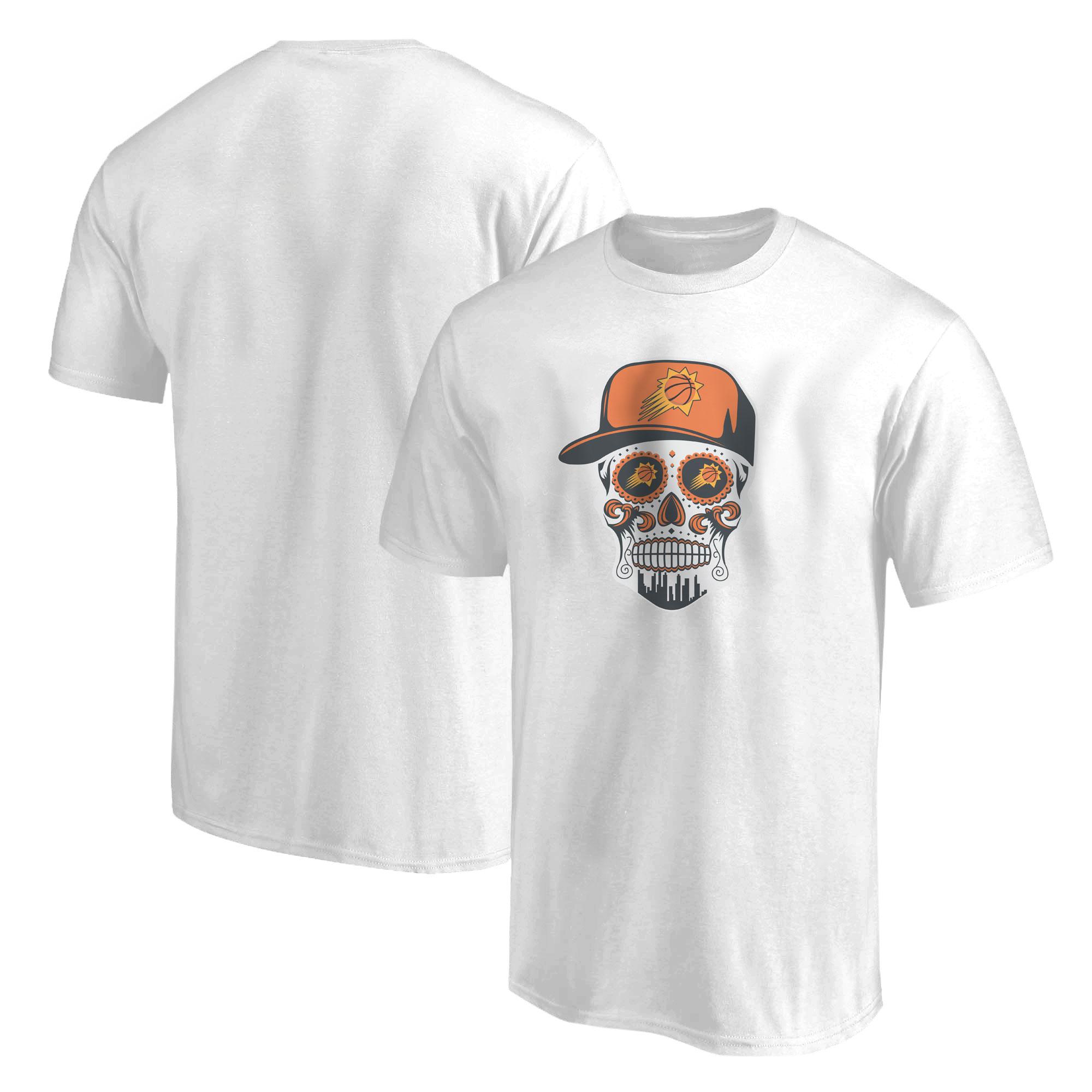 Phoenix Skull Tshirt (TSH-WHT-NP-461-NBA-PHO-SKULL)