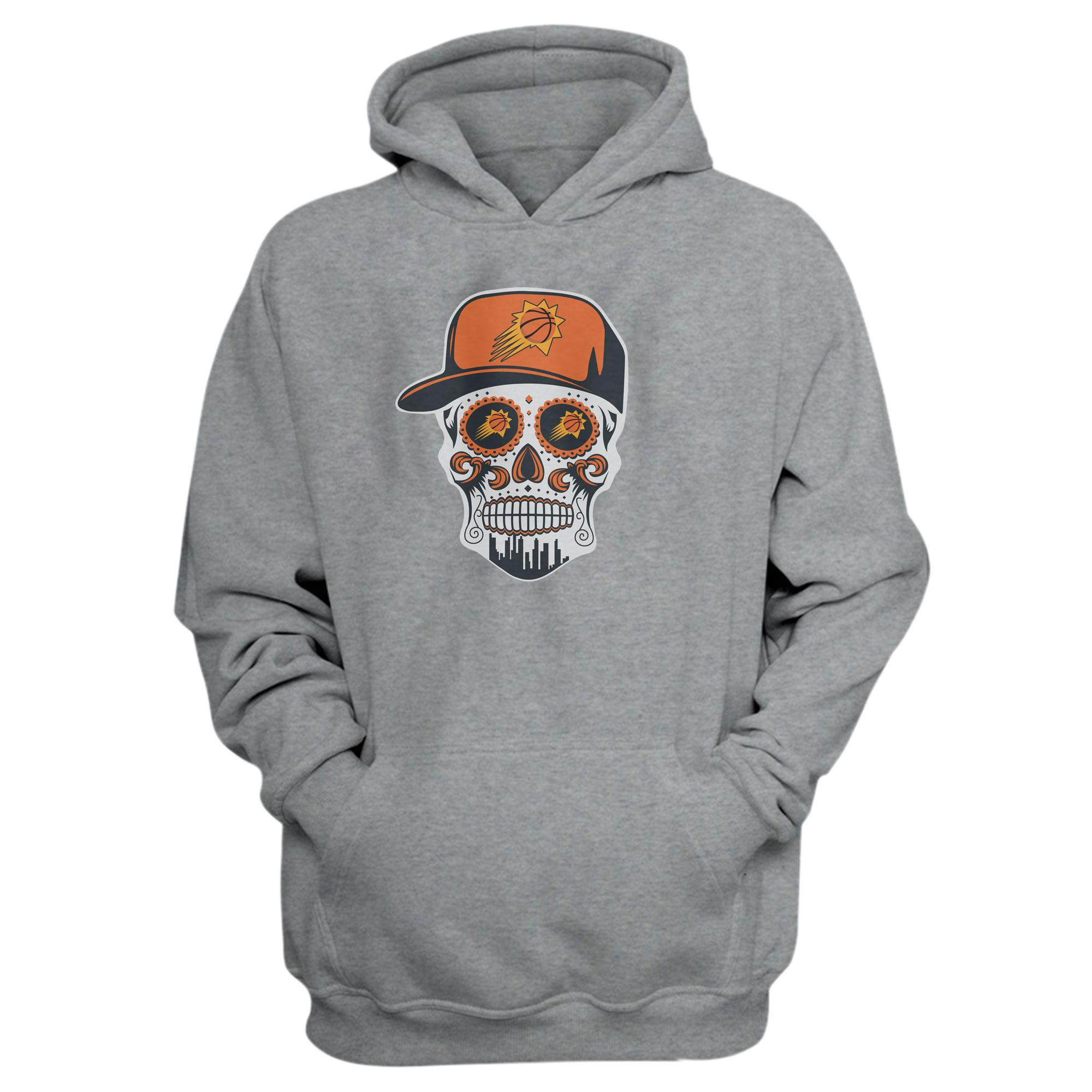 Phoenix Skull Hoodie (HD-GRY-NP-461-NBA-PHO-PHO-SKULL)