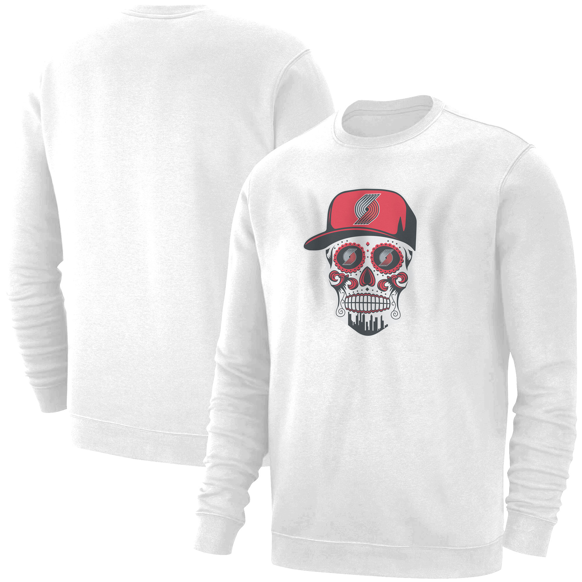 Portland Skull Basic (BSC-WHT-NP-462-NBA-POR-SKULL)