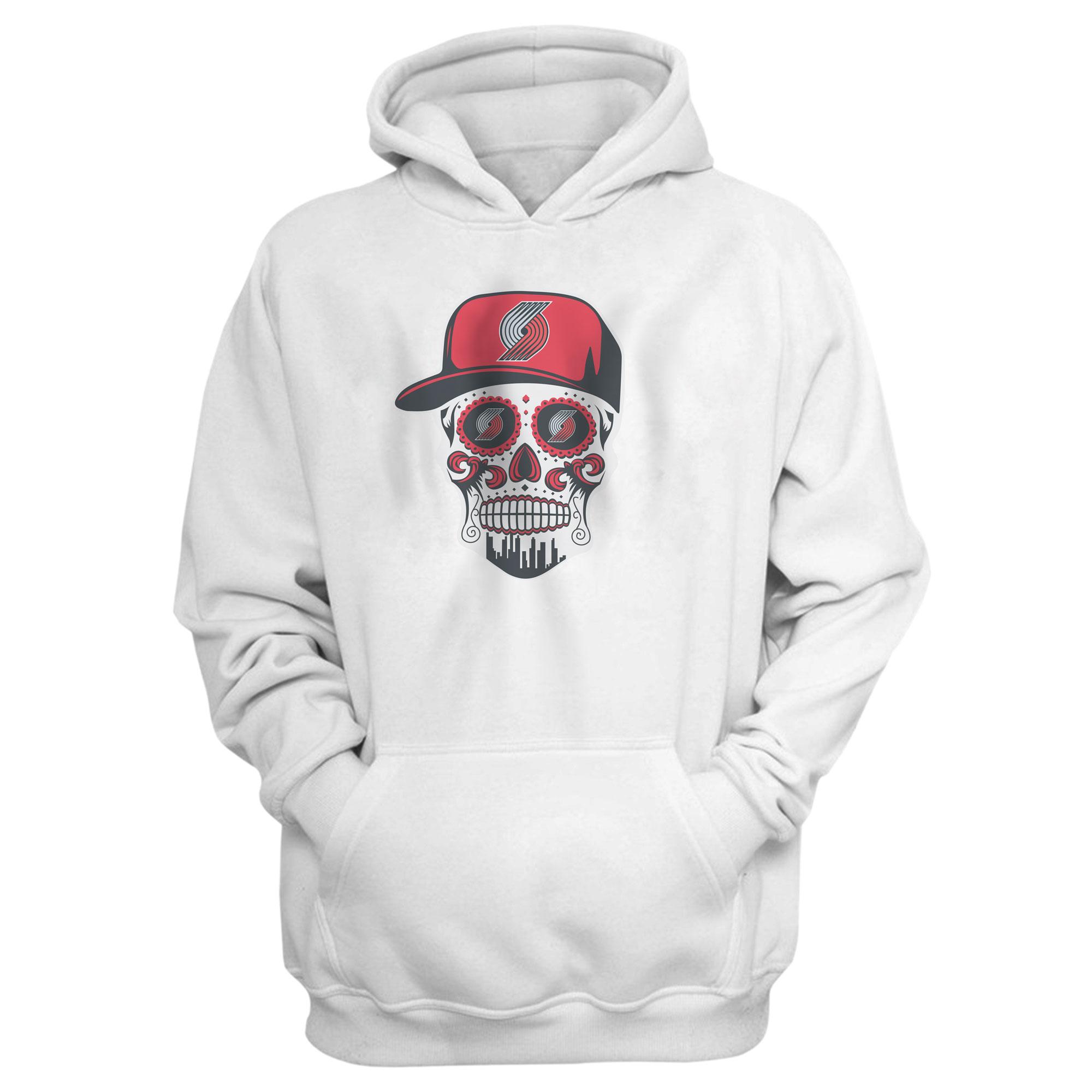 Portland Skull Hoodie (HD-WHT-NP-462-NBA.POR.SKULL)