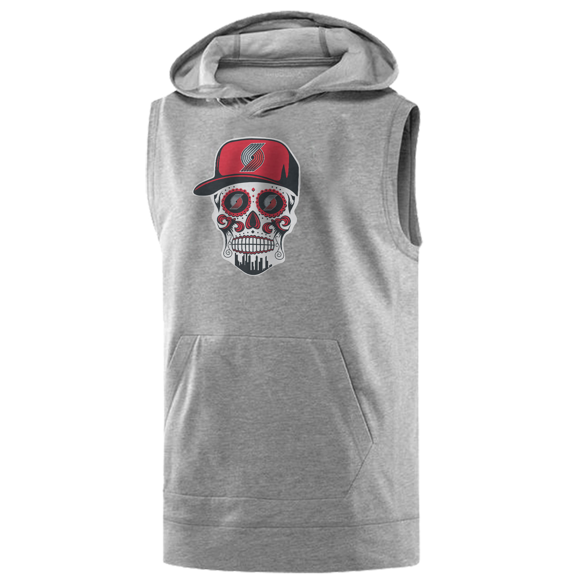 Portland Skull Sleeveless (KLS-GRY-NP-462-NBA.POR.SKULL)