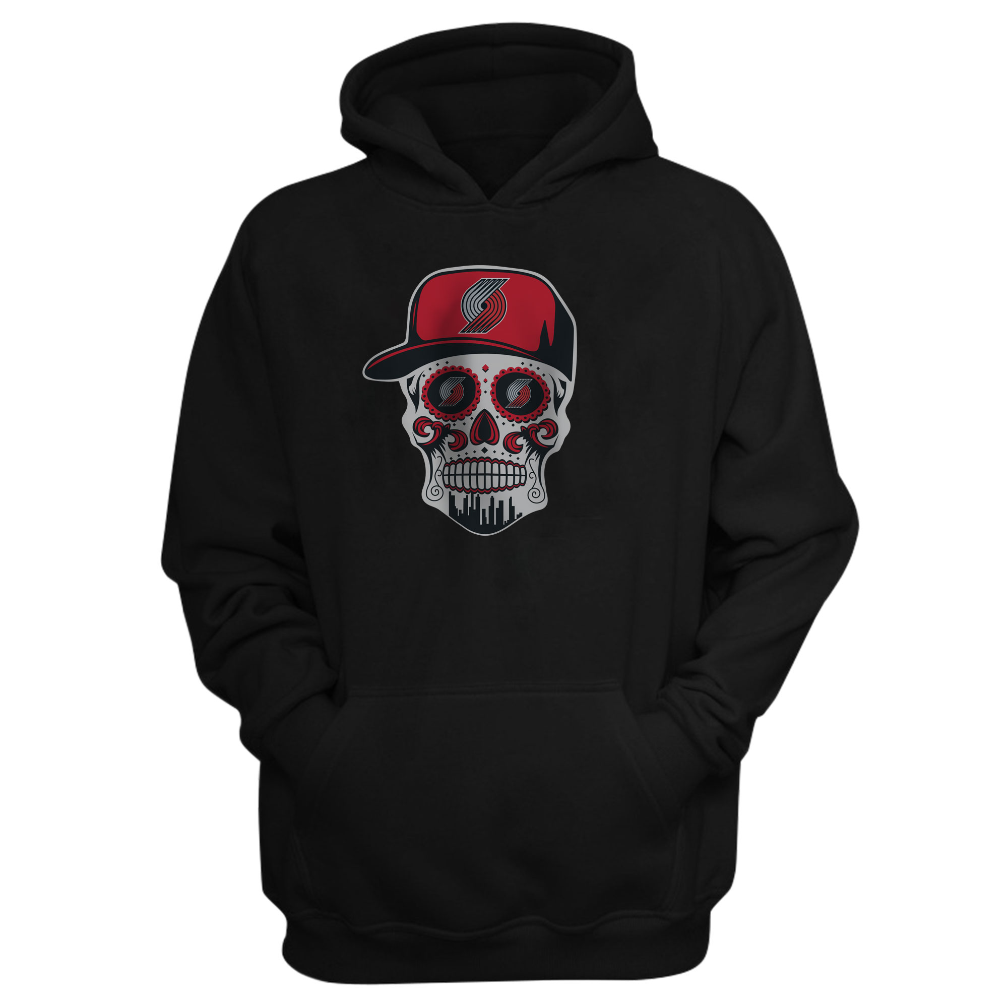 Portland Skull Hoodie (HD-BLC-NP-462-NBA.POR.SKULL)