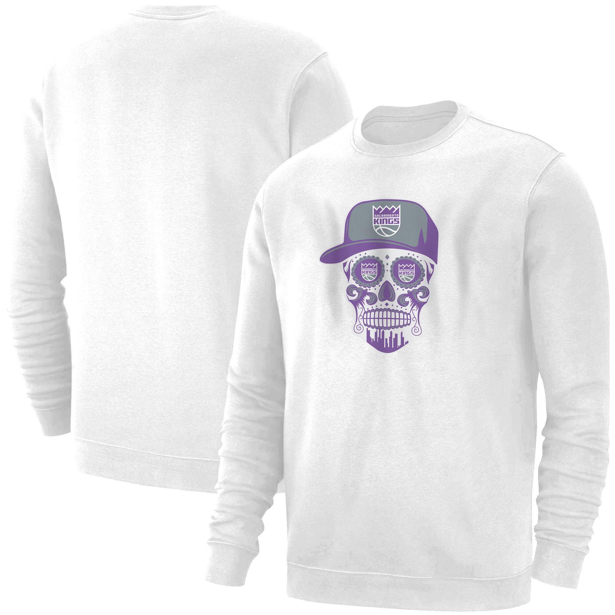 Sacramento Kings Sacramento Skull Basic (BSC-WHT-463-SACRAMENTO-SKULL)
