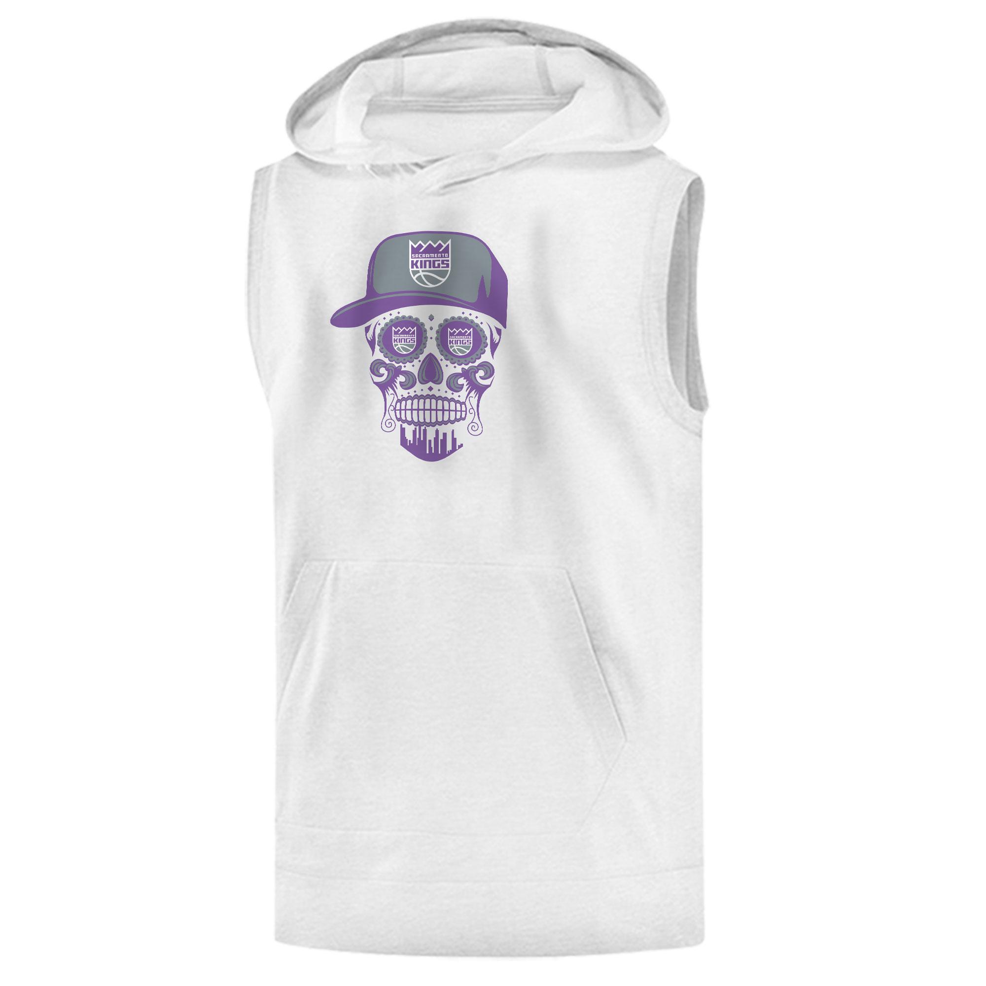 Sacramento Kings Sacramento Skull Sleeveless (KLS-WHT-NP-463-SACRAMENTO-SKULL)