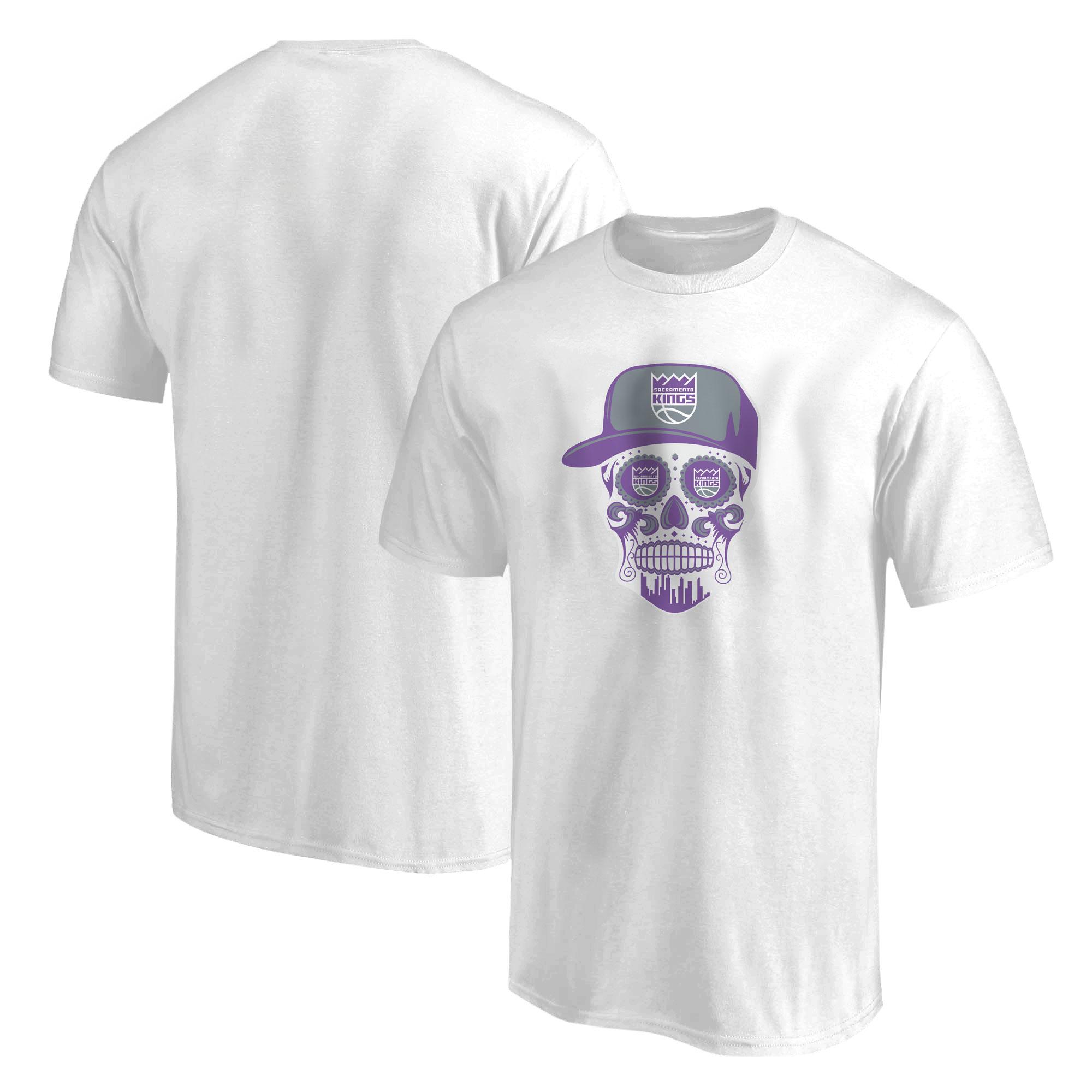 Sacramento Kings Sacramento Skull Tshirt (TSH-WHT-NP-463-SACRAMENTO-SKULL)