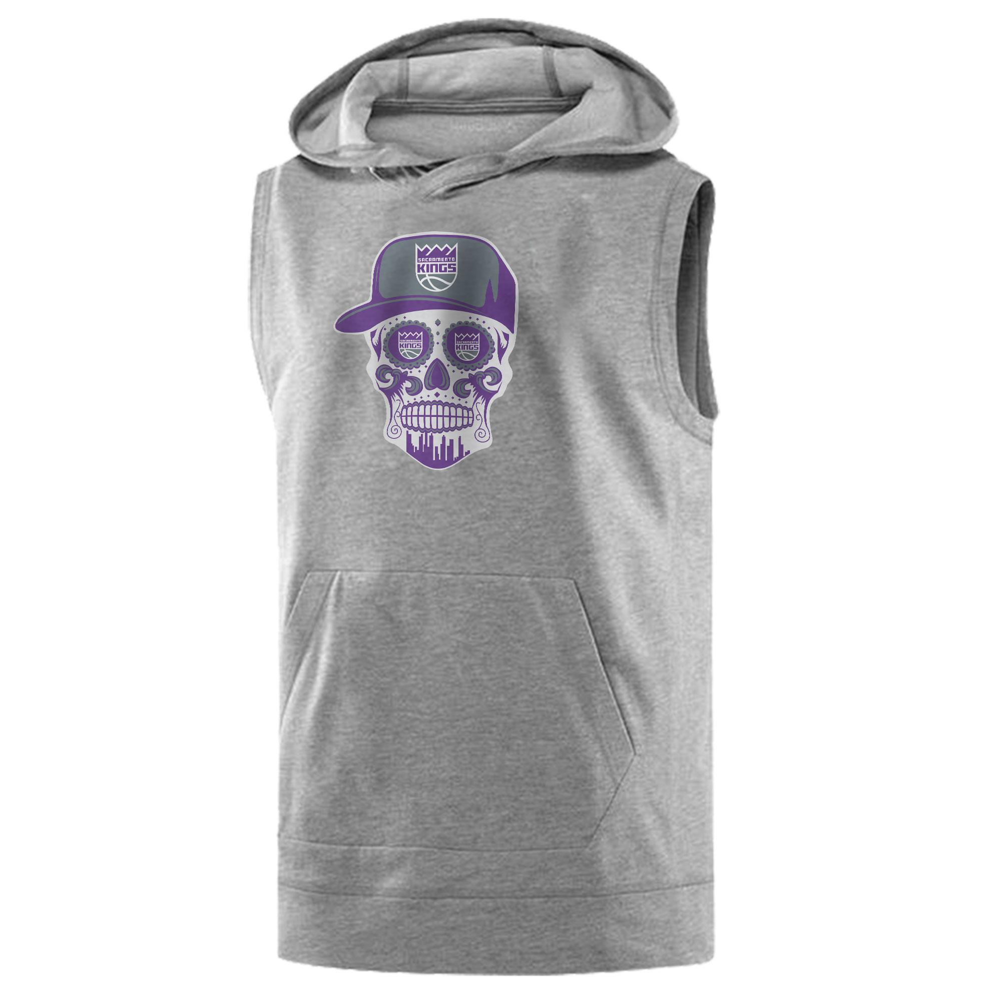 Sacramento Kings Sacramento Skull Sleeveless (KLS-GRY-463-SACRAMENTO-SKULL)