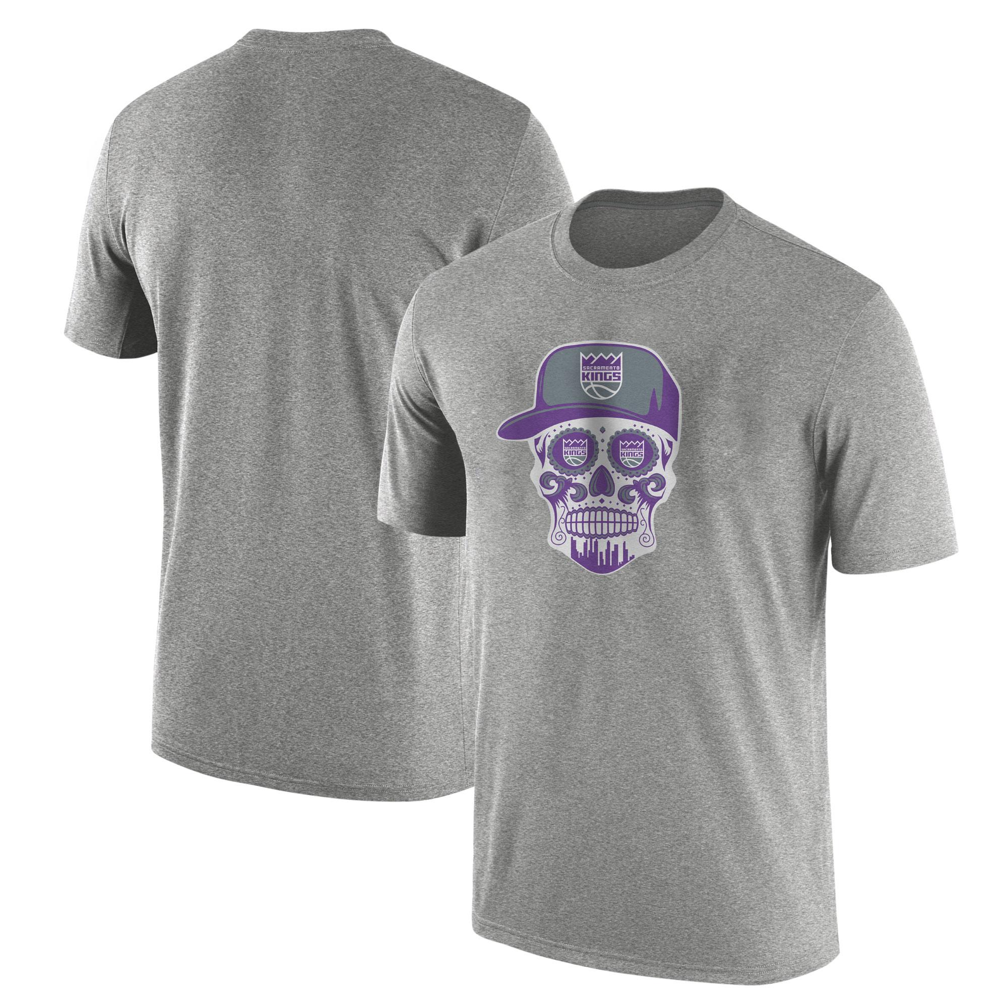 Sacramento Kings Sacramento Skull Tshirt (TSH-GRY-463-SACRAMENTO-SKULL)