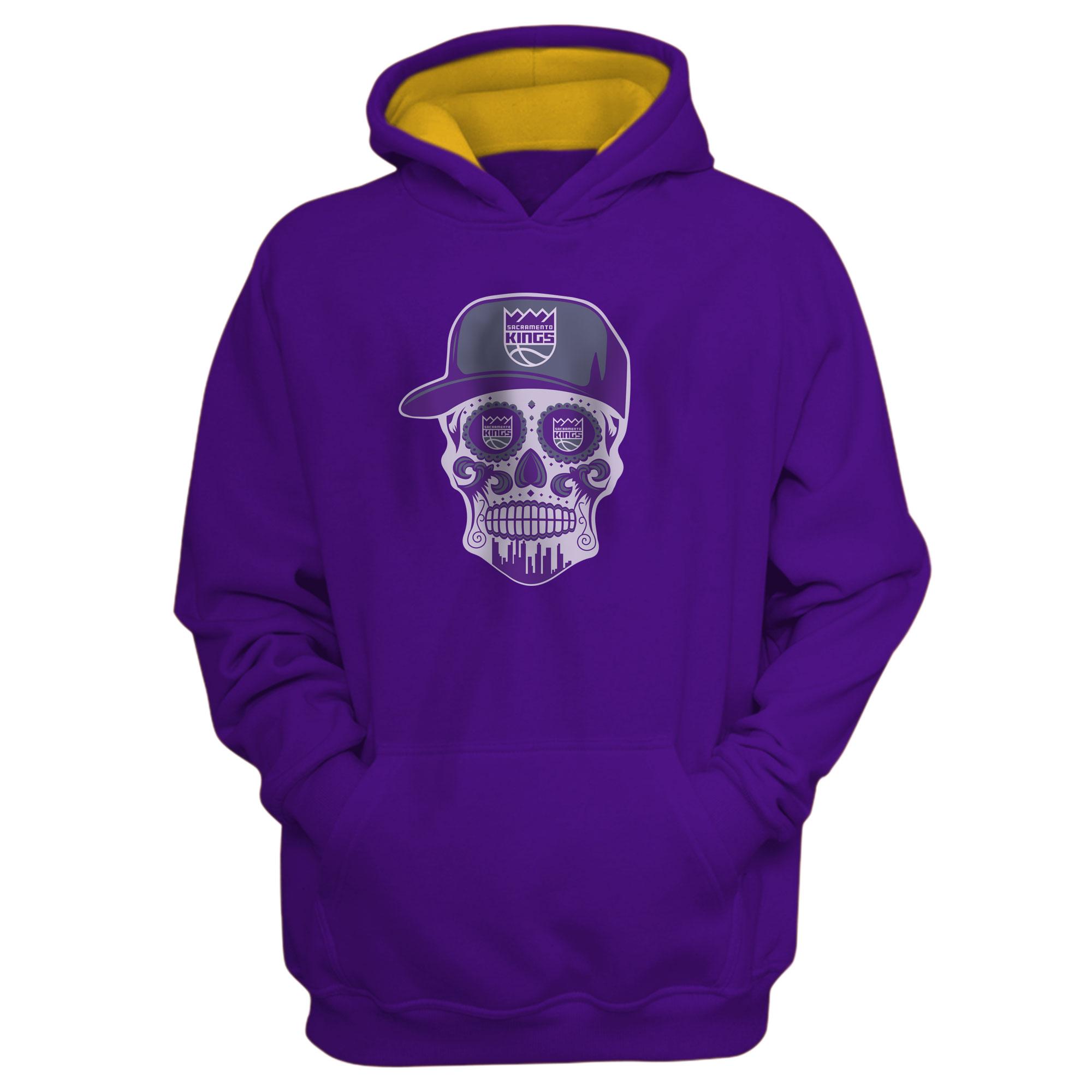 Sacramento Kings Sacramento Skull Hoodie (HD-PRP-463-SACRAMENTO-SKULL)