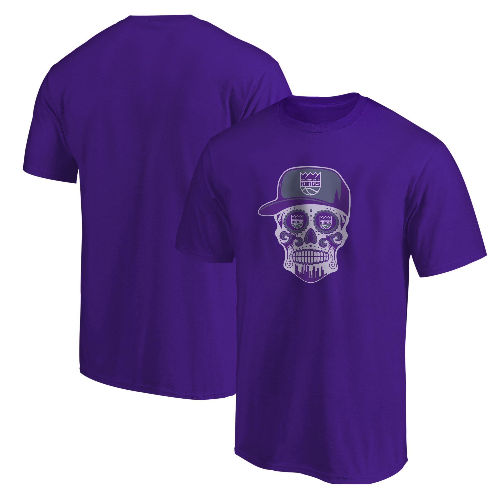 Sacramento Kings Sacramento Skull Tshirt (TSH-PRP-463-SACRAMENTO-SKULL)