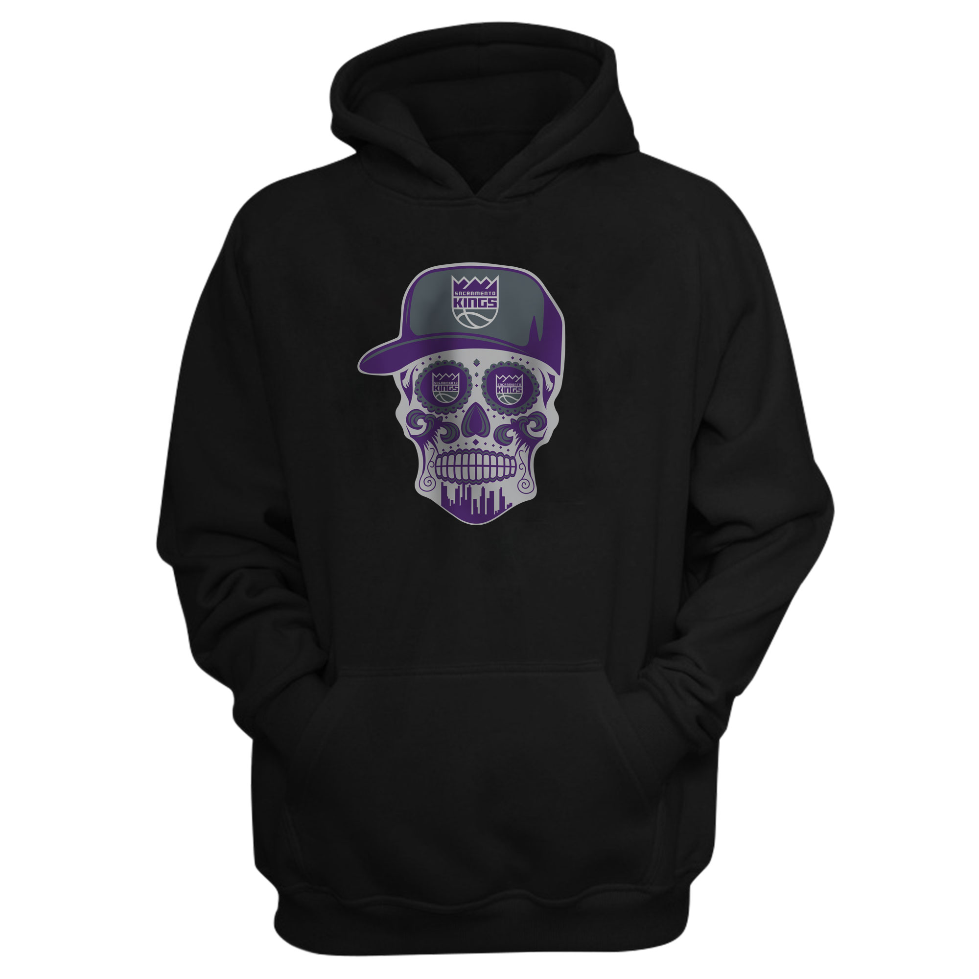 Sacramento Kings Sacramento Skull Hoodie (HD-BLC-463-SACRAMENTO-SKULL)