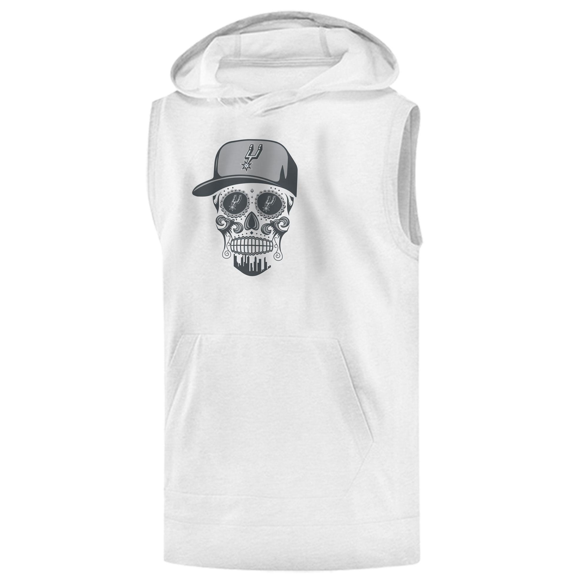 Spurs Skull Sleeveless (KLS-WHT-NP-464-NBA-SPURS-SKULL)