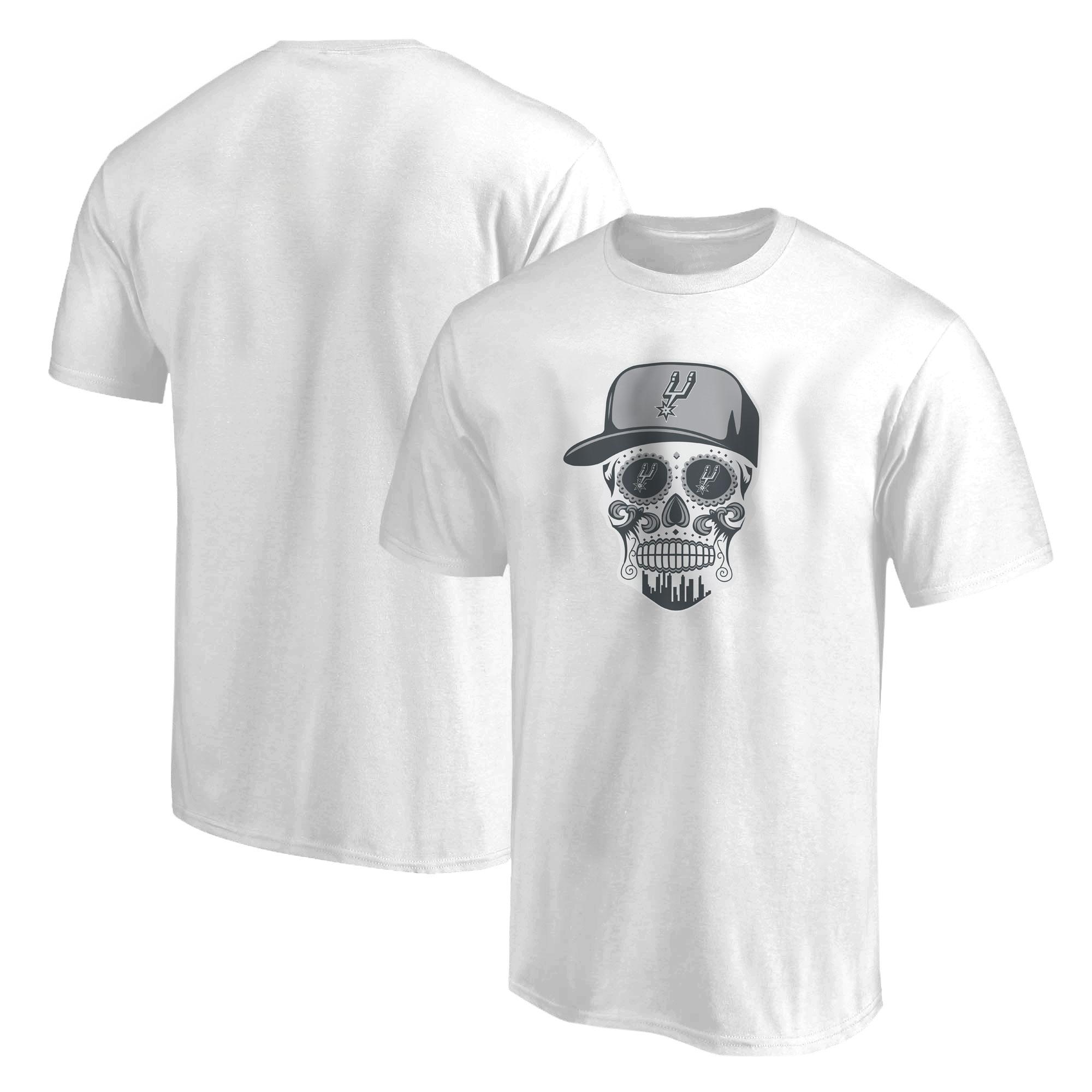 Spurs Skull Tshirt (TSH-WHT-NP-464-SPURS-SKULL)