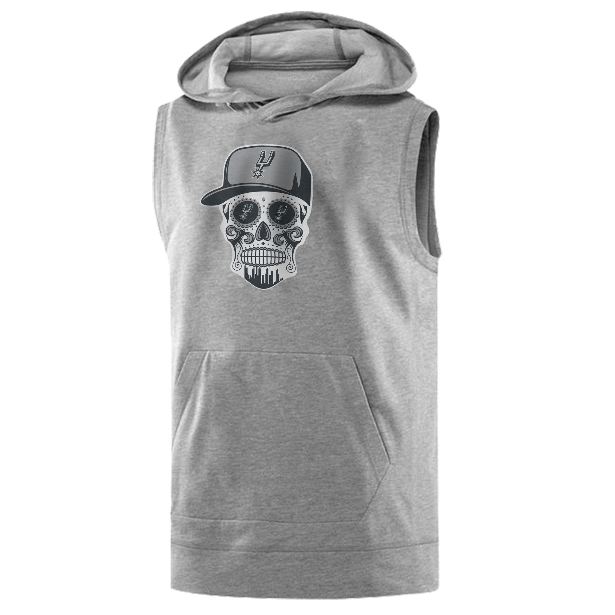 Spurs Skull Sleeveless (KLS-GRY-NP-464-NBA-SPURS-SKULL)
