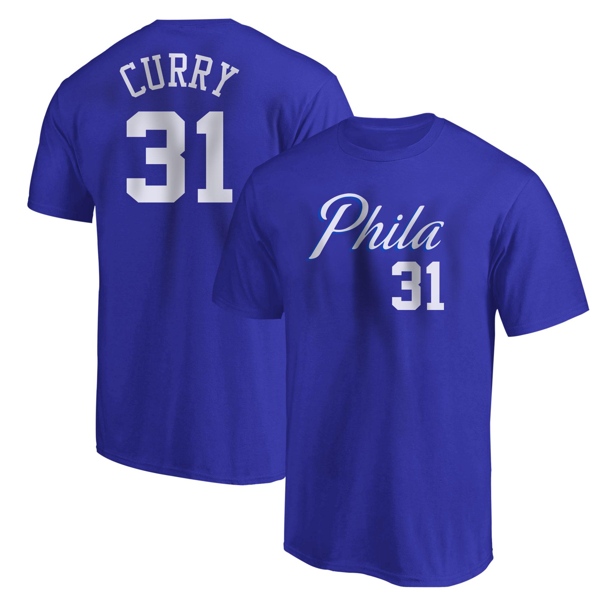 Philadelphia 76ers Seth Curry Tshirt (TSH-BLU-NP-504-31)