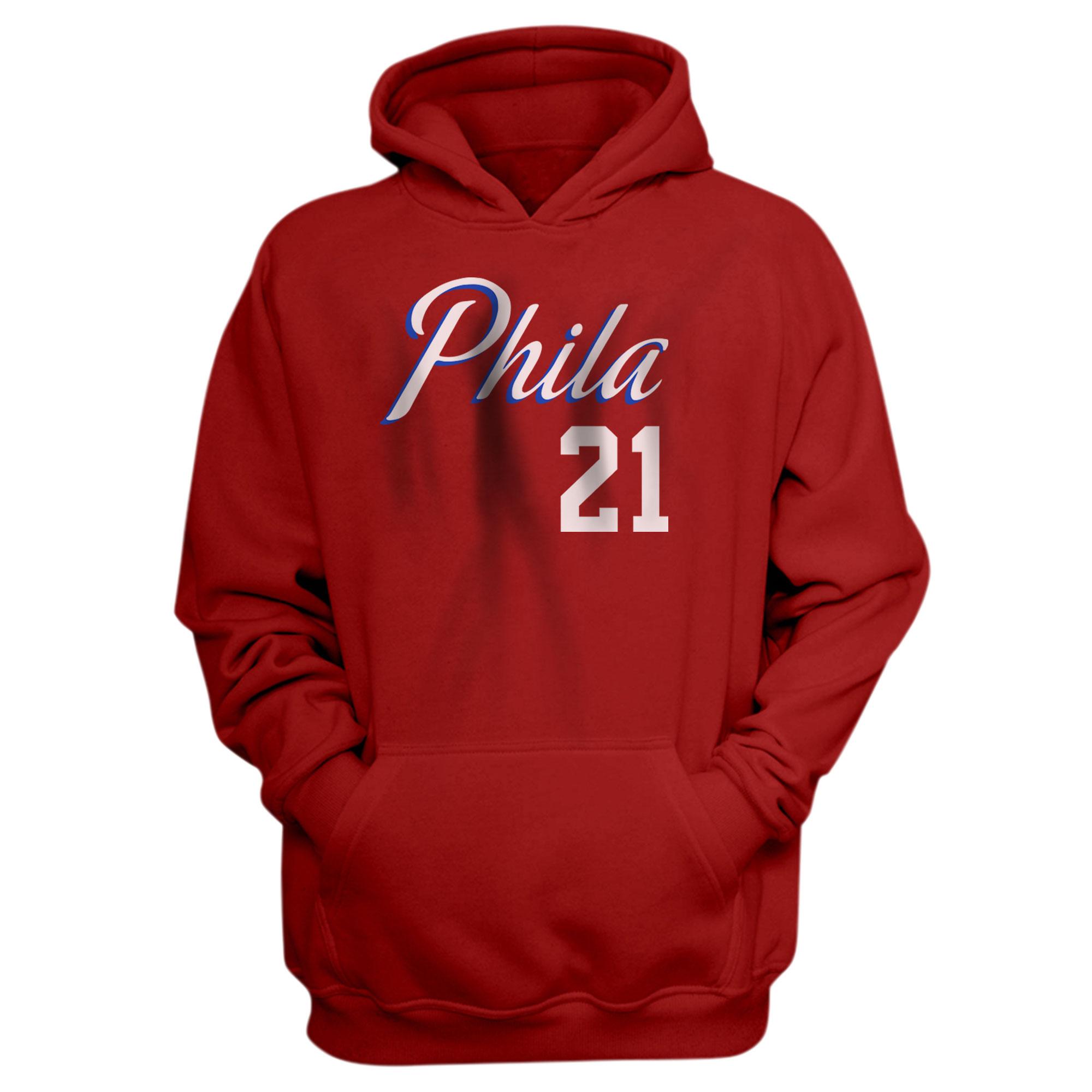 Philadelphia 76ers Joel Embiid Hoodie (HD-RED-NP-504-21)