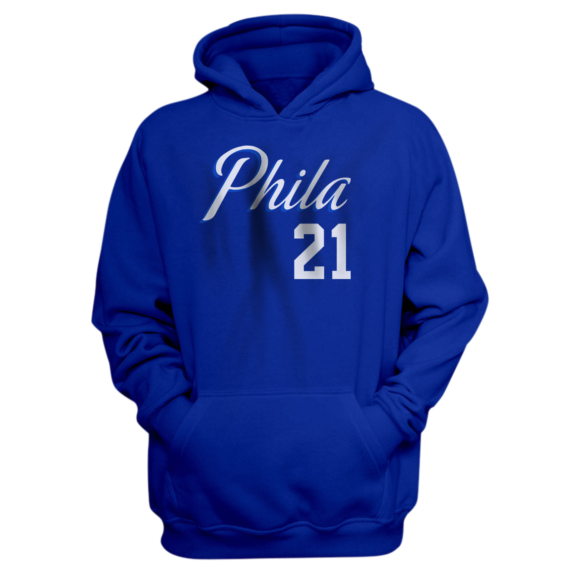 Philadelphia 76ers Joel Embiid Hoodie (HD-BLU-NP-504-21)