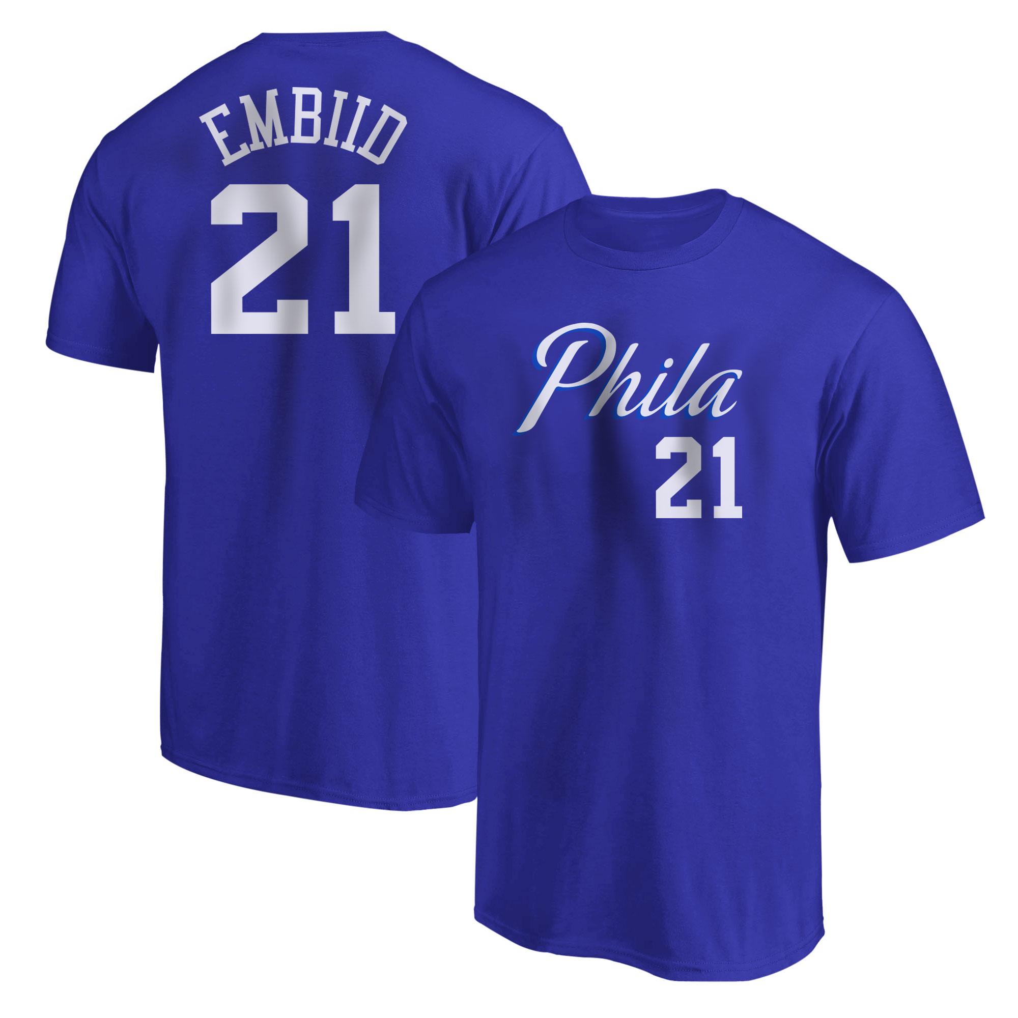 Philadelphia 76ers Joel Embiid Tshirt (TSH-BLU-NP-504-21)