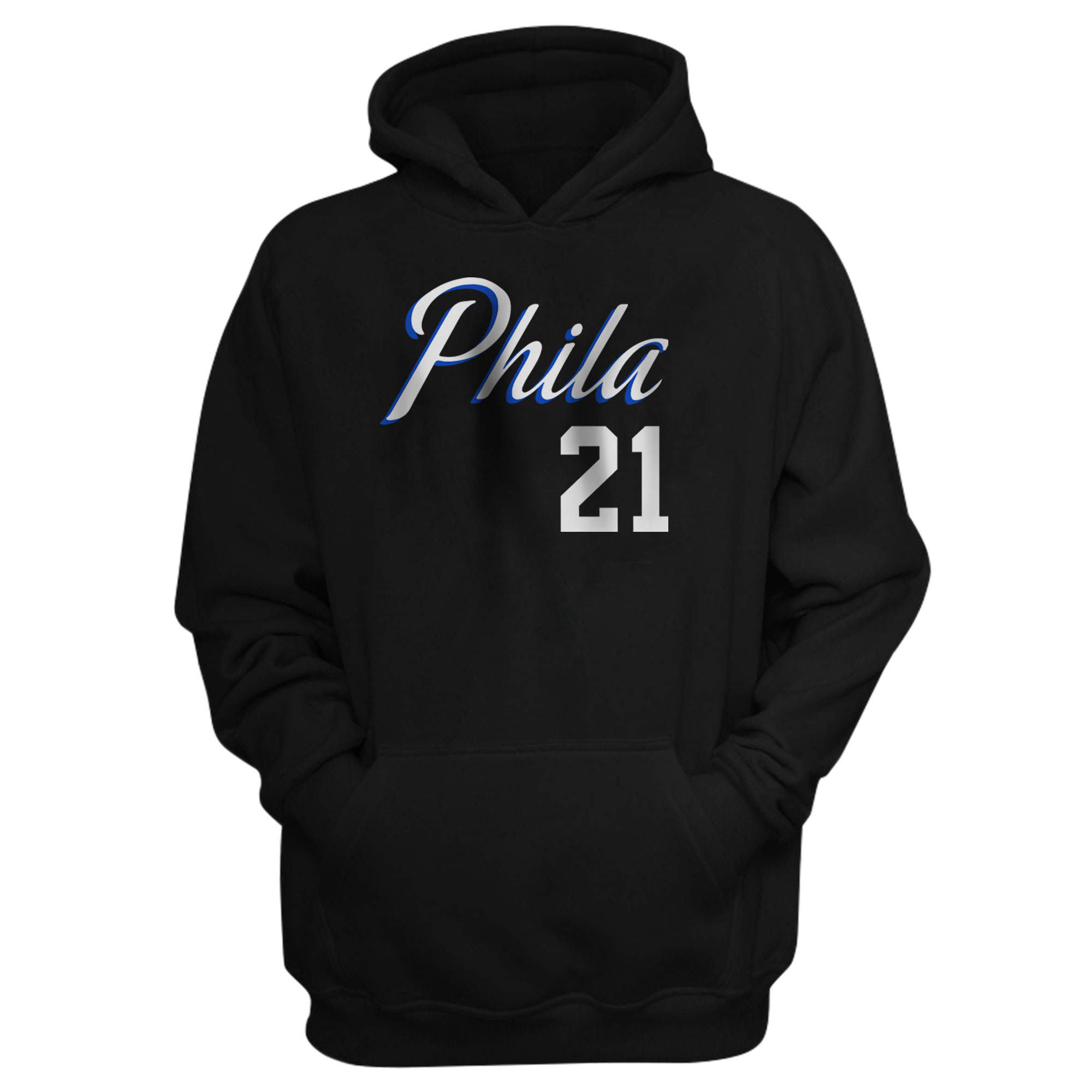 Philadelphia 76ers Joel Embiid Hoodie (HD-BLC-PLT-504-21)