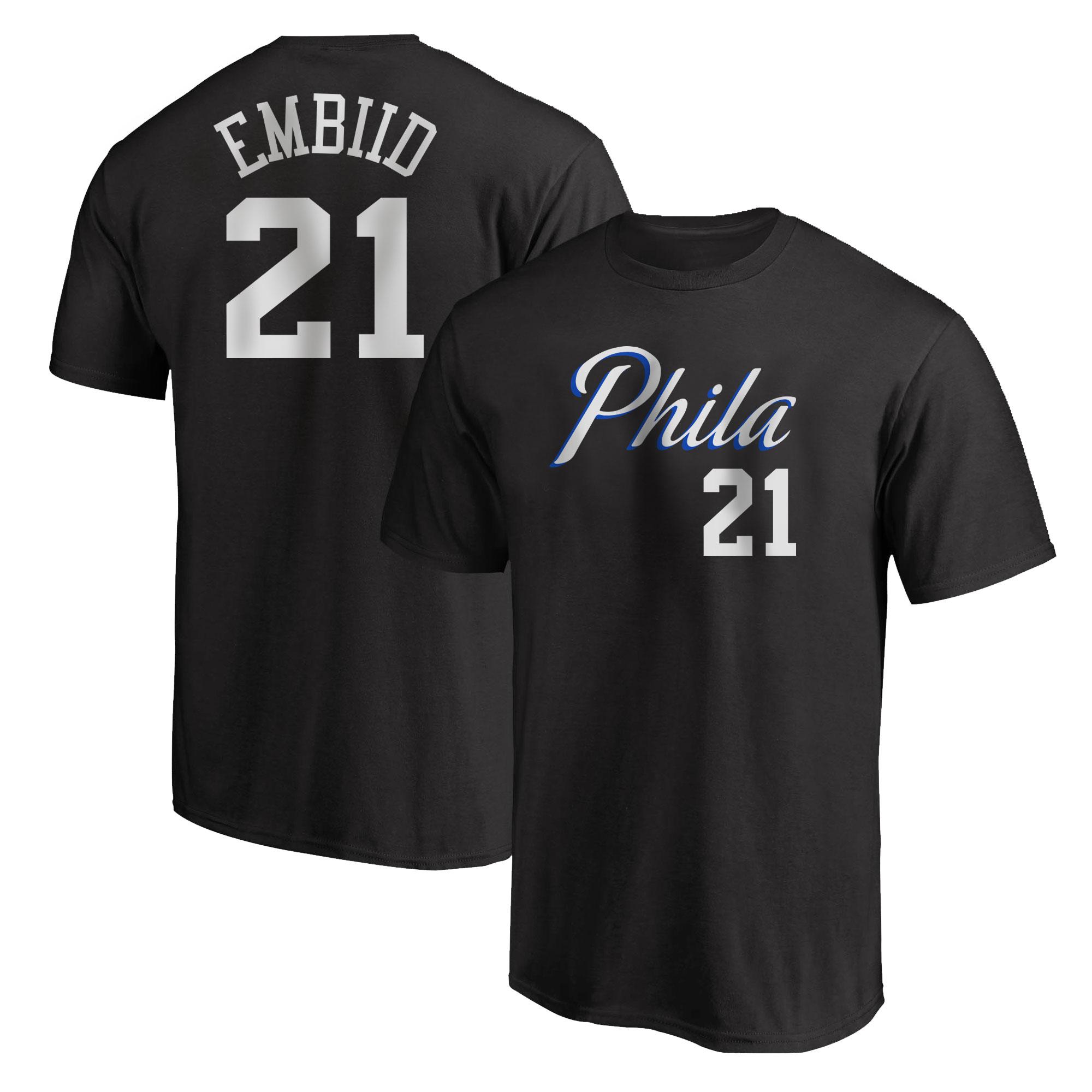 Philadelphia 76ers Joel Embiid Tshirt (TSH-BLC-PLT-504-21)