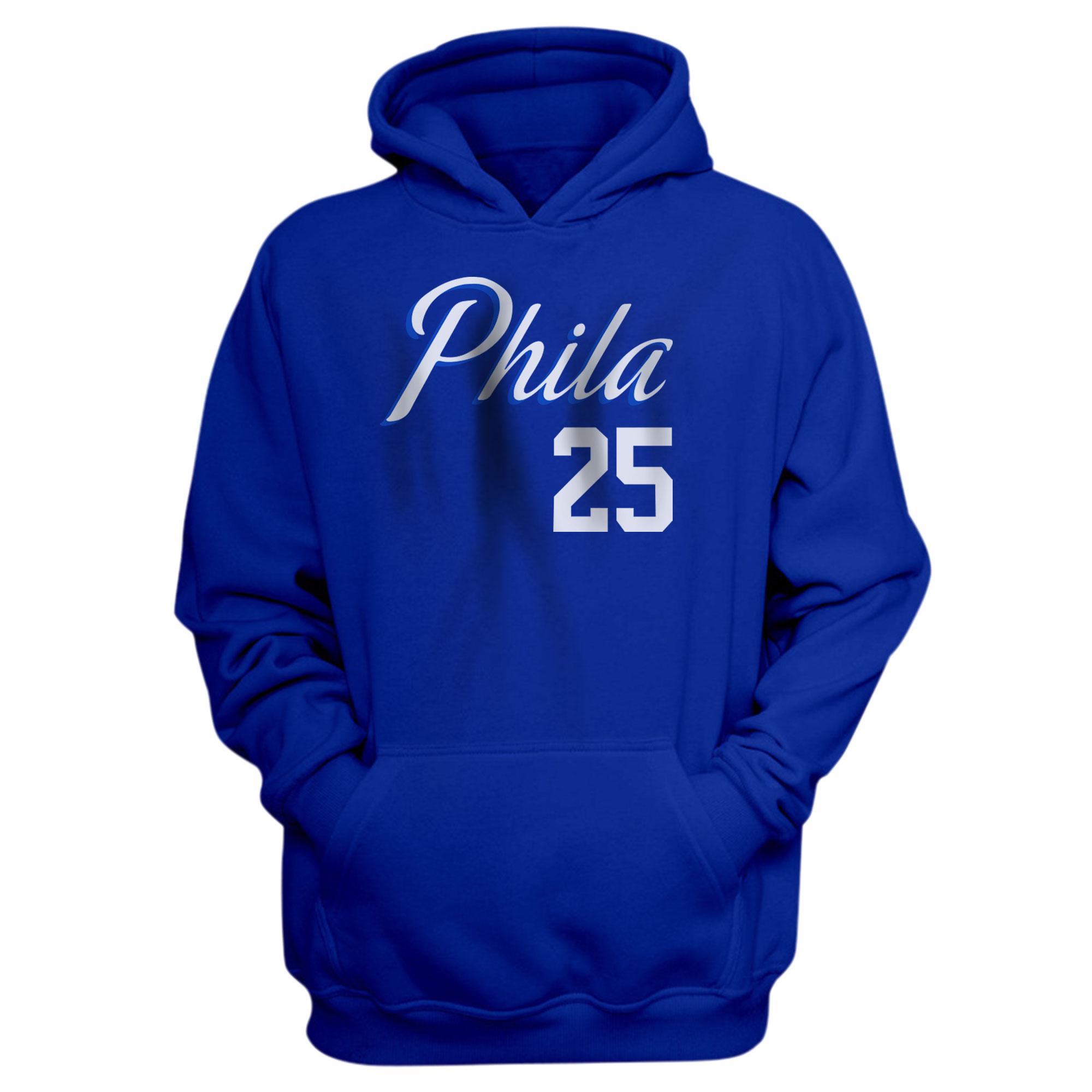 Philadelphia 76ers Ben Simmons  Hoodie (HD-BLU-PLT-504-25)
