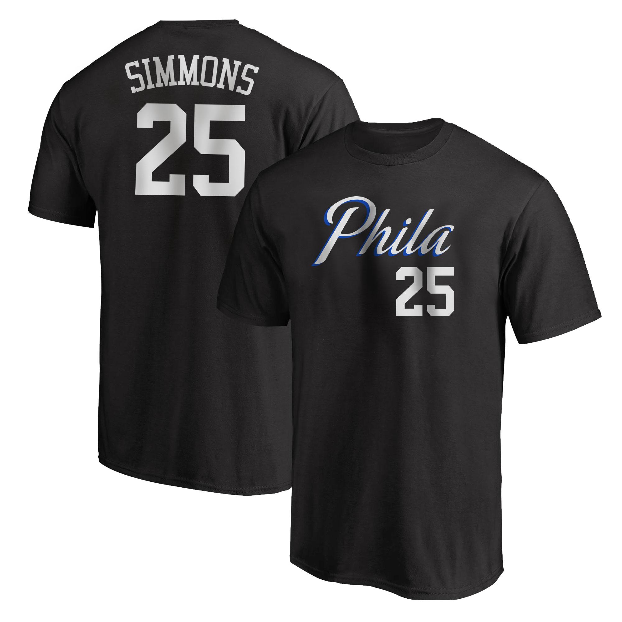 Philadelphia 76ers Ben Simmons  Tshirt (TSH-BLC-NP-504-25)
