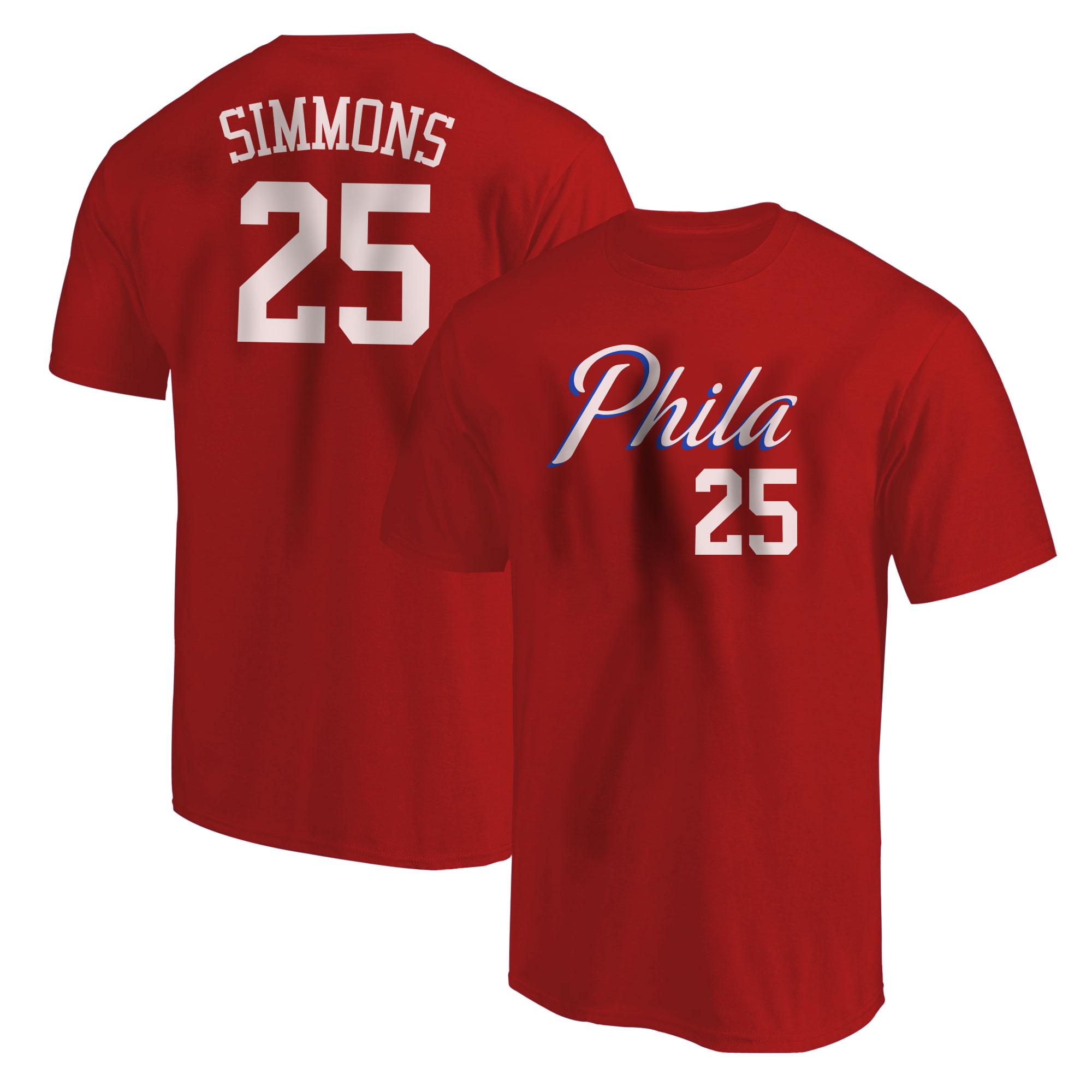 Philadelphia 76ers Ben Simmons  Tshirt (TSH-RED-NP-504-25)