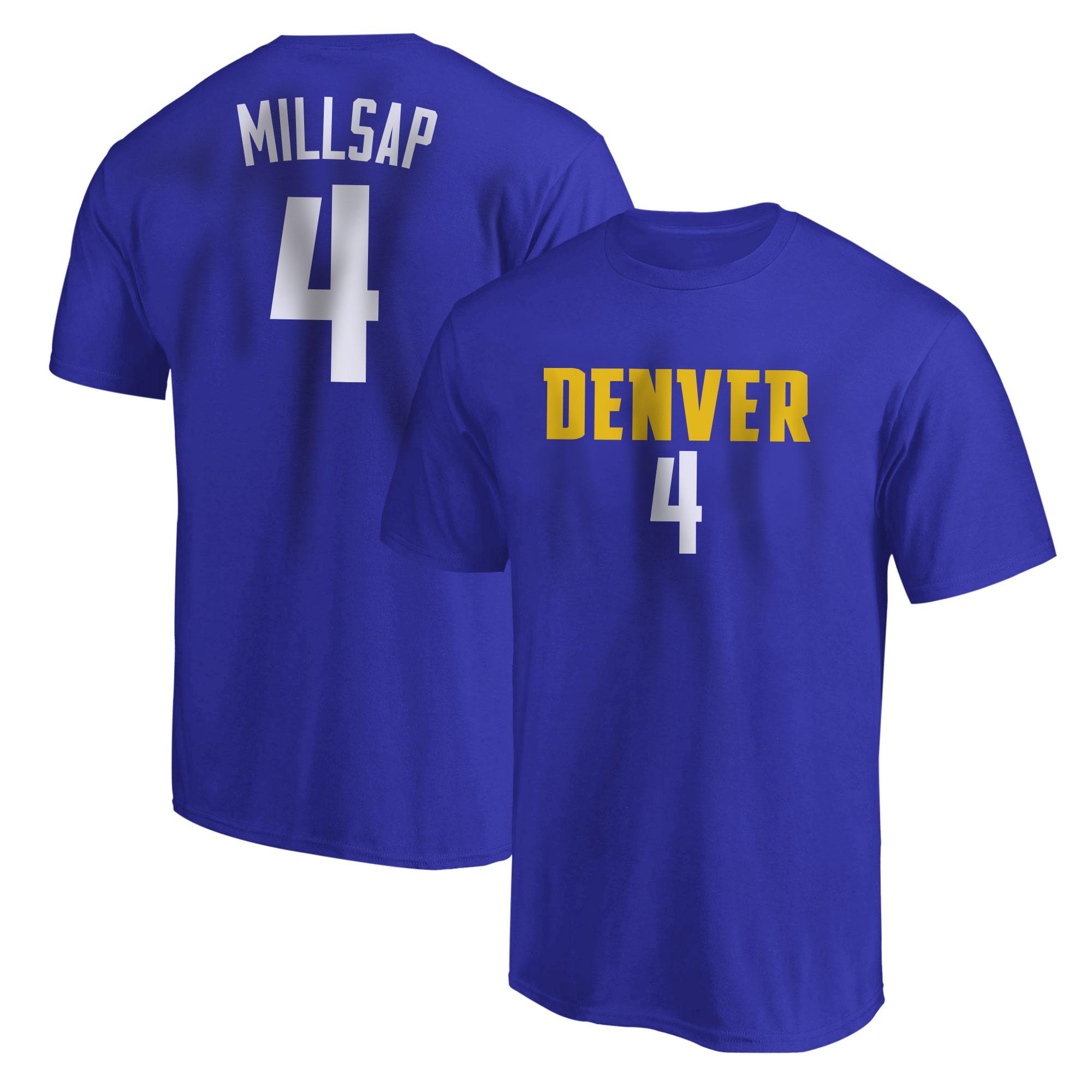 Denver Nuggets Paul Millsap Tshirt (TSH-BLU-PLT-505-4)