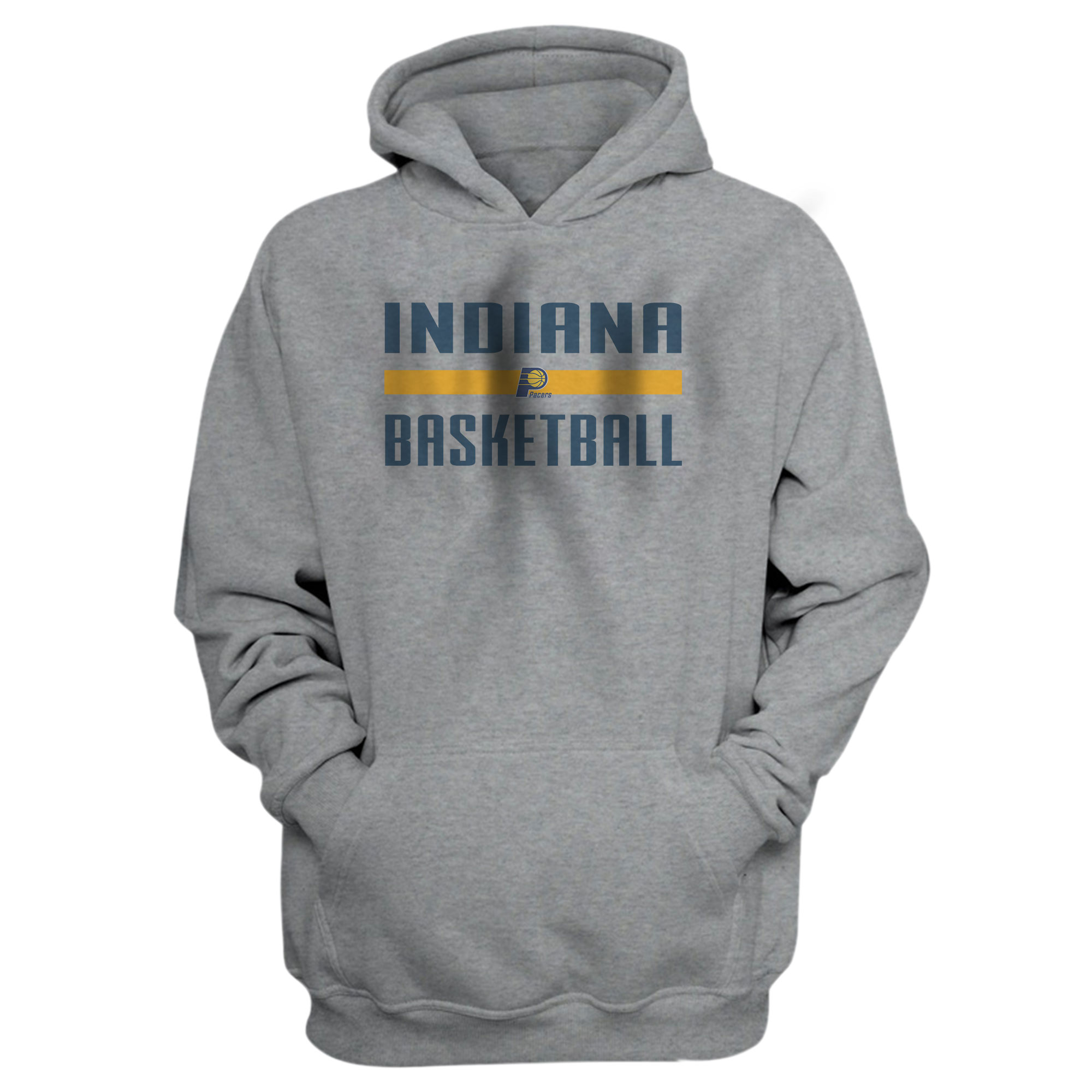 Indiana Basketball Hoodie (HD-GRY-NP-indiana-bsktbll-516)