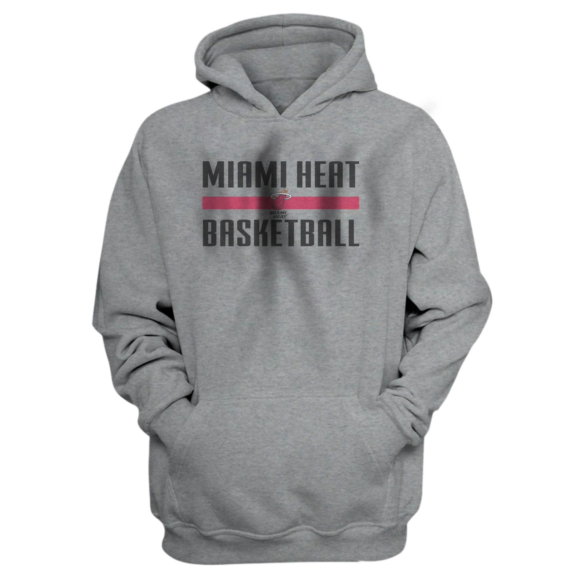Miami Heat Basketball Hoodie  (HD-GRY-NP-miami-bsktbll-528)