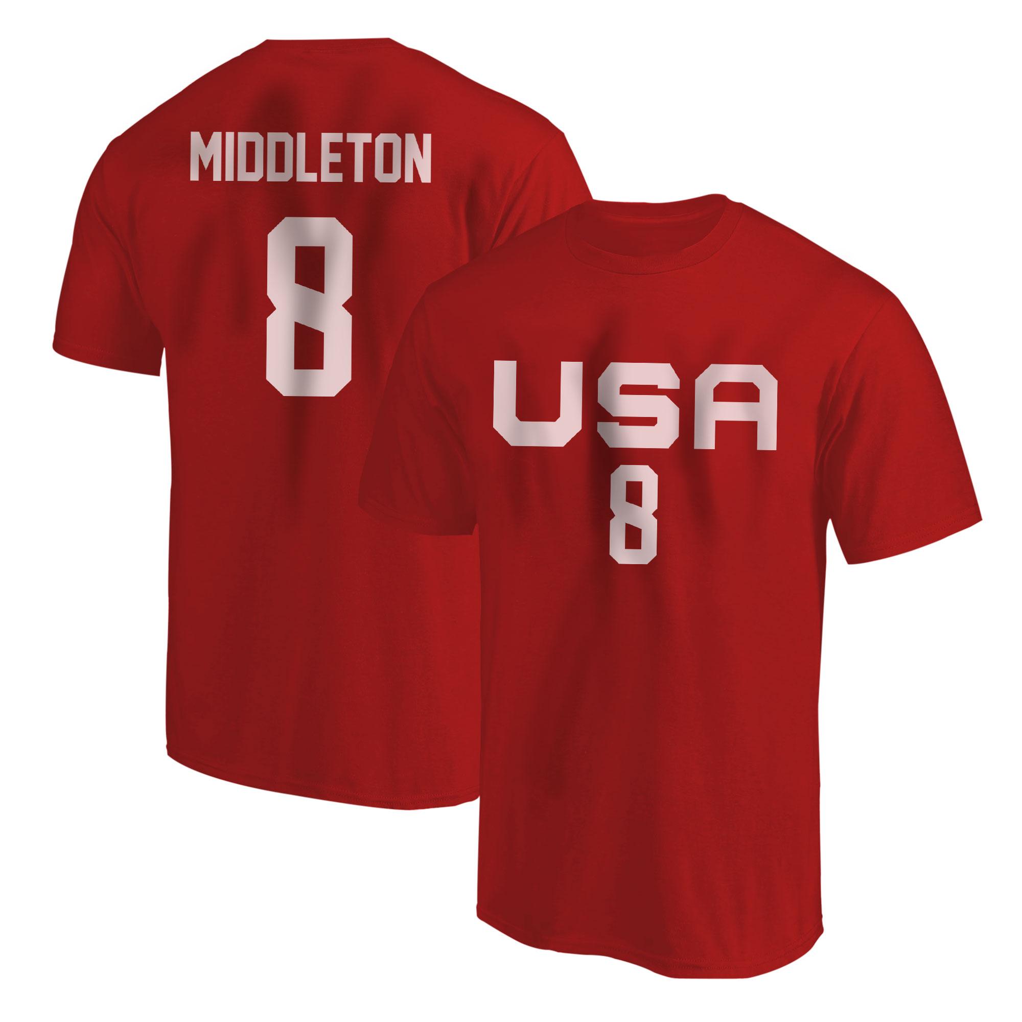 Olympic Team Khris Middleton Tshirt (TSH-RED-NP-532-8)