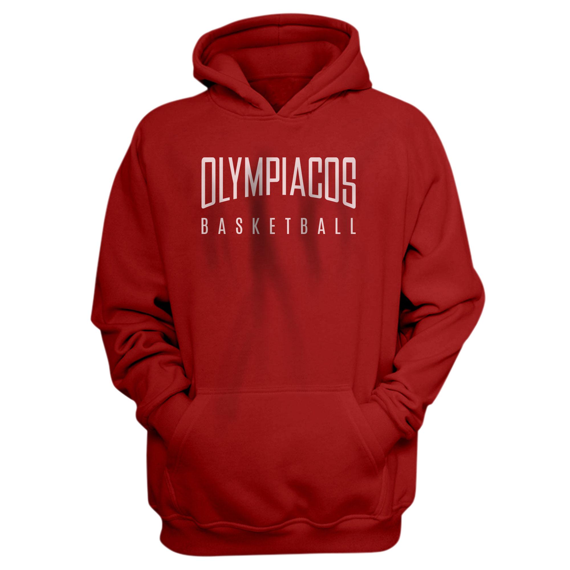Olympiakos Basketball Hoodie (HD-RED-NP-OLYMPIAKOS-609)