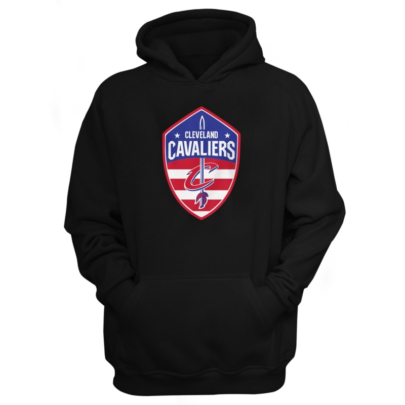 Cleveland Cavaliers Hoodie (HD-WHT-65-NBA-CLE-USAFLAG)