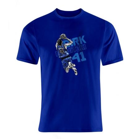 Dallas Mavericks Nowitzki Shooting Tshirt (TSH-GRY-68-PLYR-DAL-NOWİTSHOOT)