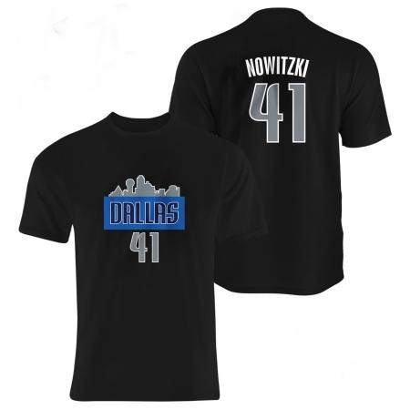 Dallas Mavericks Dirk Nowitzki Tshirt (TSH-BLU-70-PLYR-DAL-NOWIT.FRM)
