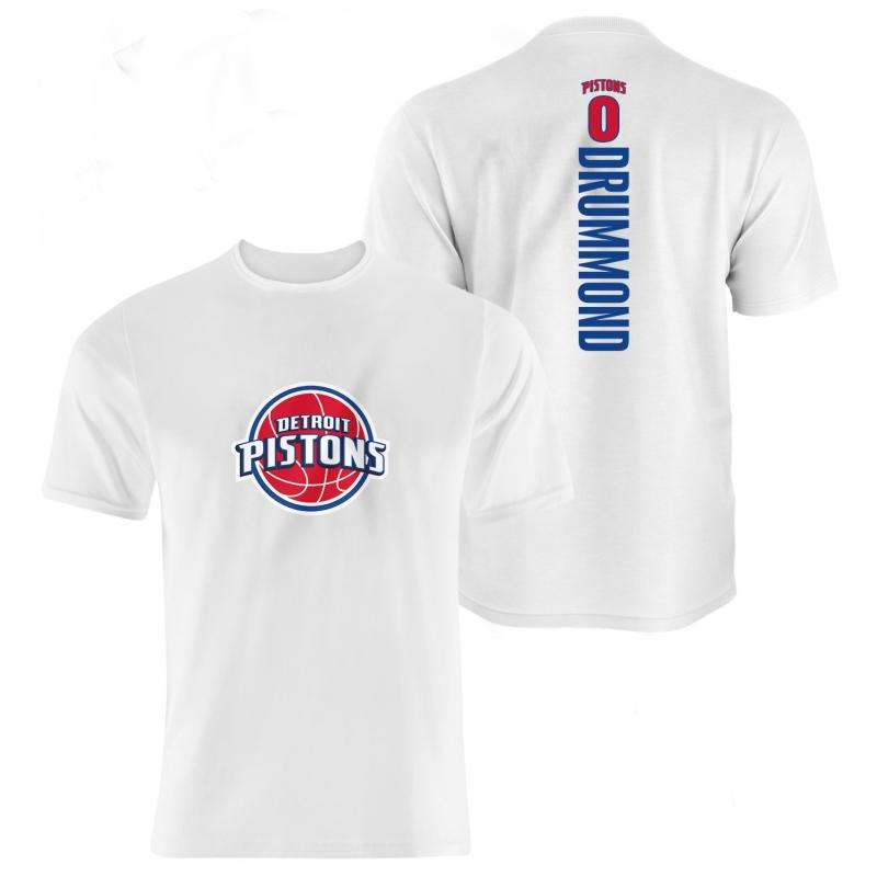 Detroit Pistons Andre Drummond Vertical Tshirt (TSH-GRY-76-PLYR-DET-DRRUMOND.FRM)