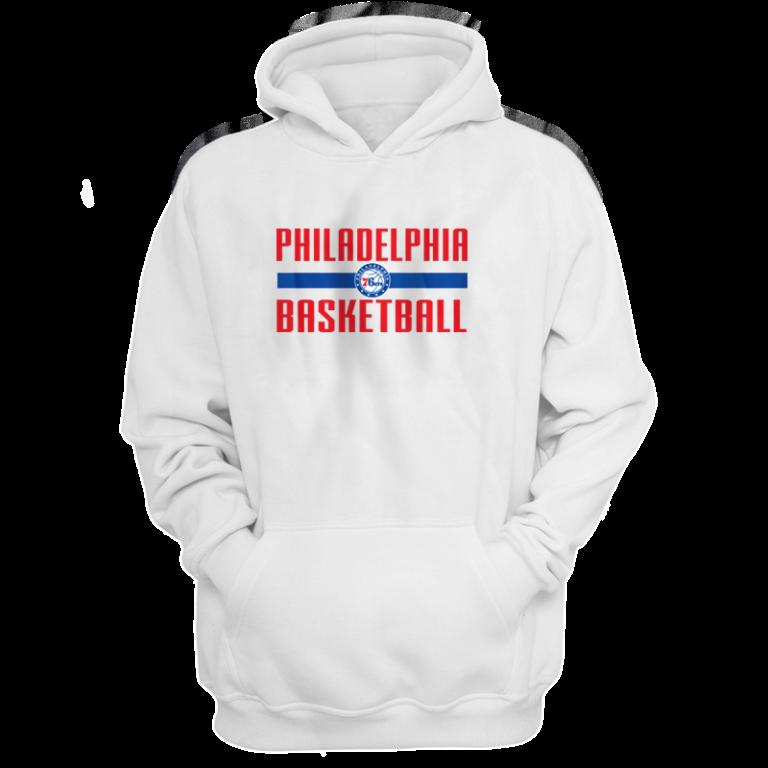 Philadelphia Basketball Hoodie (HD-wht-NP-phila.bsktbll-534)