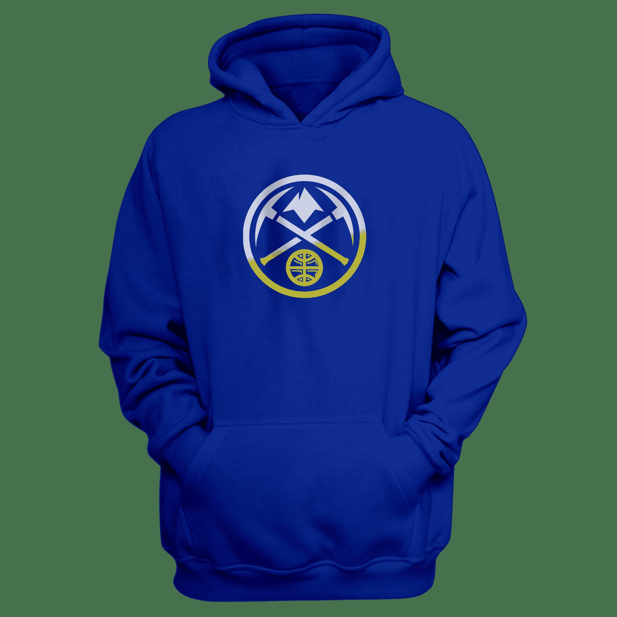 Denver Nuggets Logo Hoodie (HD-BLU-NP-305-NBA-denver-nuggets-logo)