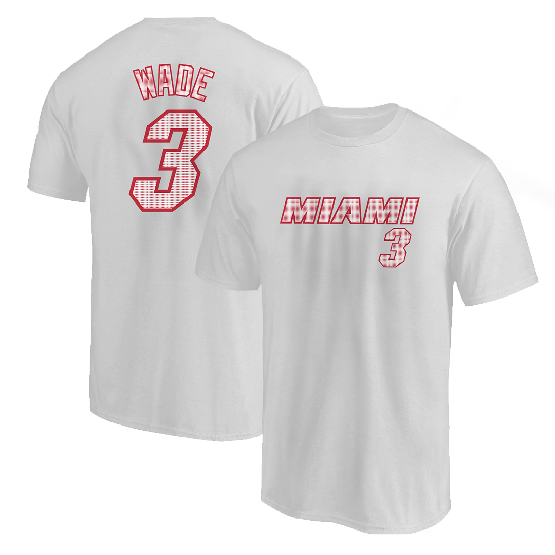 Dwyane Wade Tshirt (TSH-WHT-NP-253-PLYR-MIA-WADE.FRM)