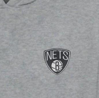 Brooklyn Nets  Hoodie (Örme)  (HD-GRY-EMBR-BRK.NETS)