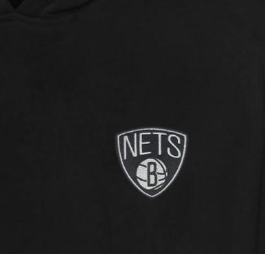Brooklyn Nets  Hoodie (Örme)  (HD-BLC-EMBR-BRK.NETS)