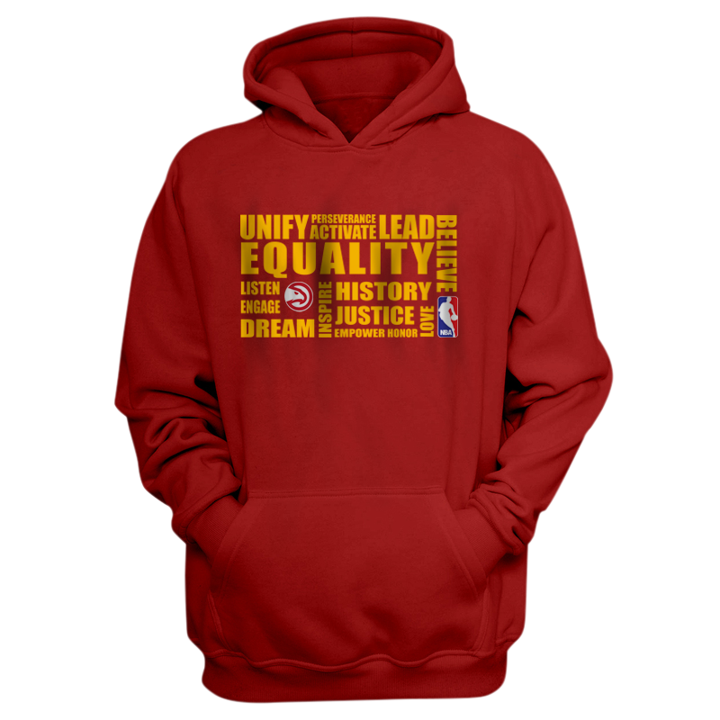 EQUALITY Atlanta Hawks Hoodie (HD-RED-NP-290-NBA-ATL.yllw)