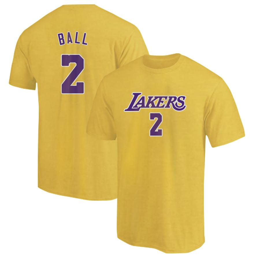 L.A. Lakers Lonzo Ball Tshirt (TSH-yellow-132-PLYR-LAL-LONZO.FRM)