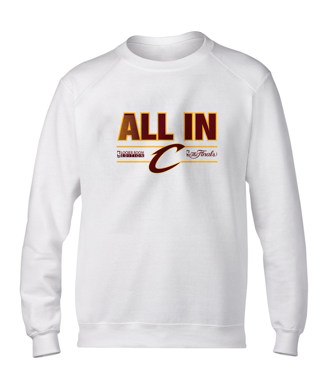 Cleveland Cavaliers Cleveland All-İn Basic (BSC-wht-58-NBA-CLE-ALL.IN)