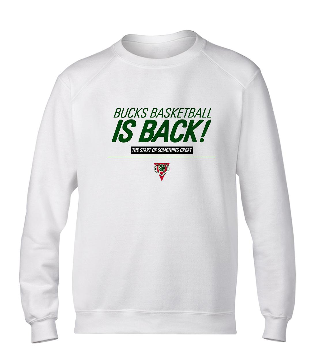 Bucks Basketball Is Back Basic (BSC-WHT-NP-ısback01-368)